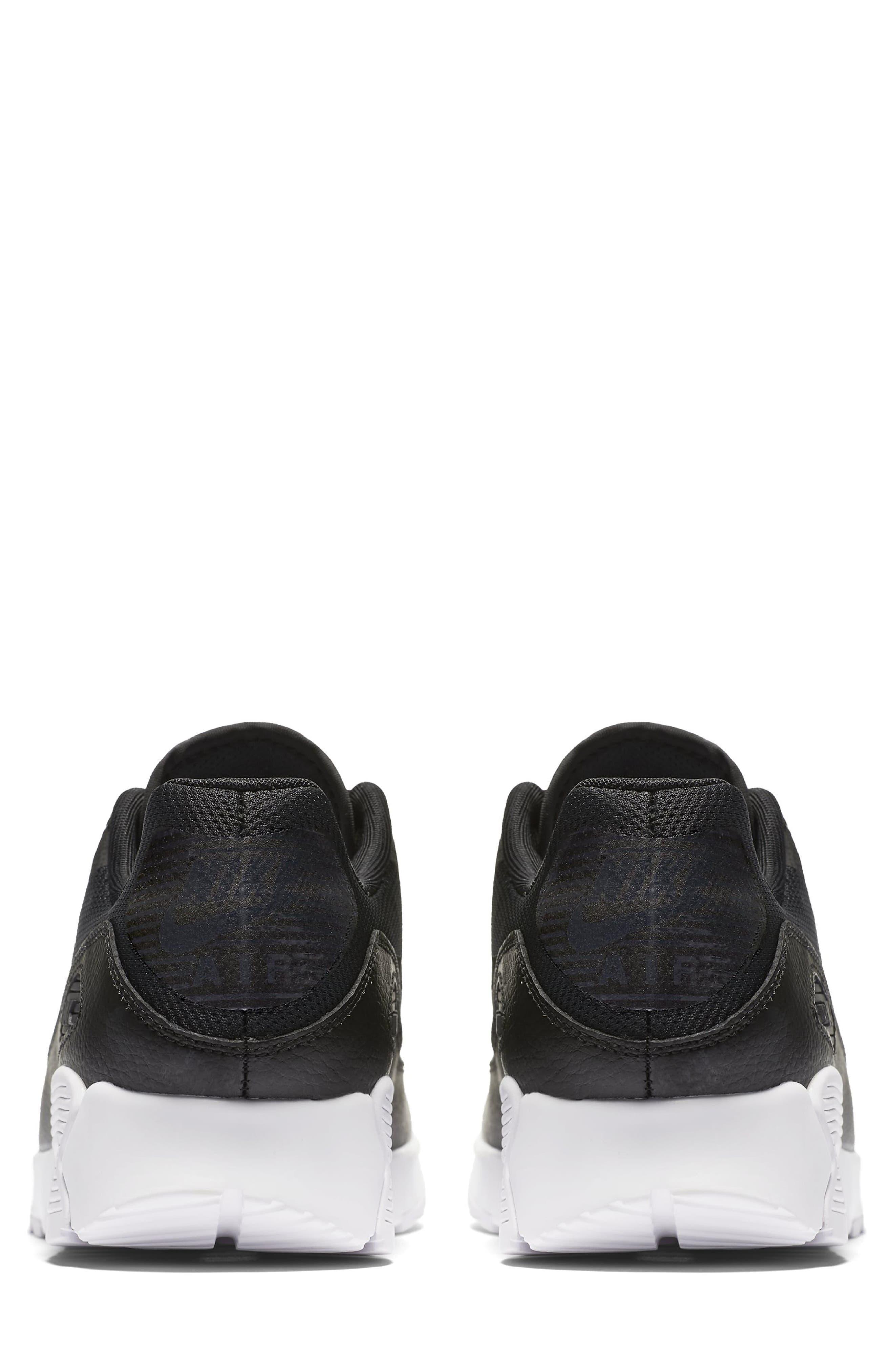 Air Max 90 Ultra 2.0 Sneaker,                             Alternate thumbnail 3, color,                             Black/ White/ Black