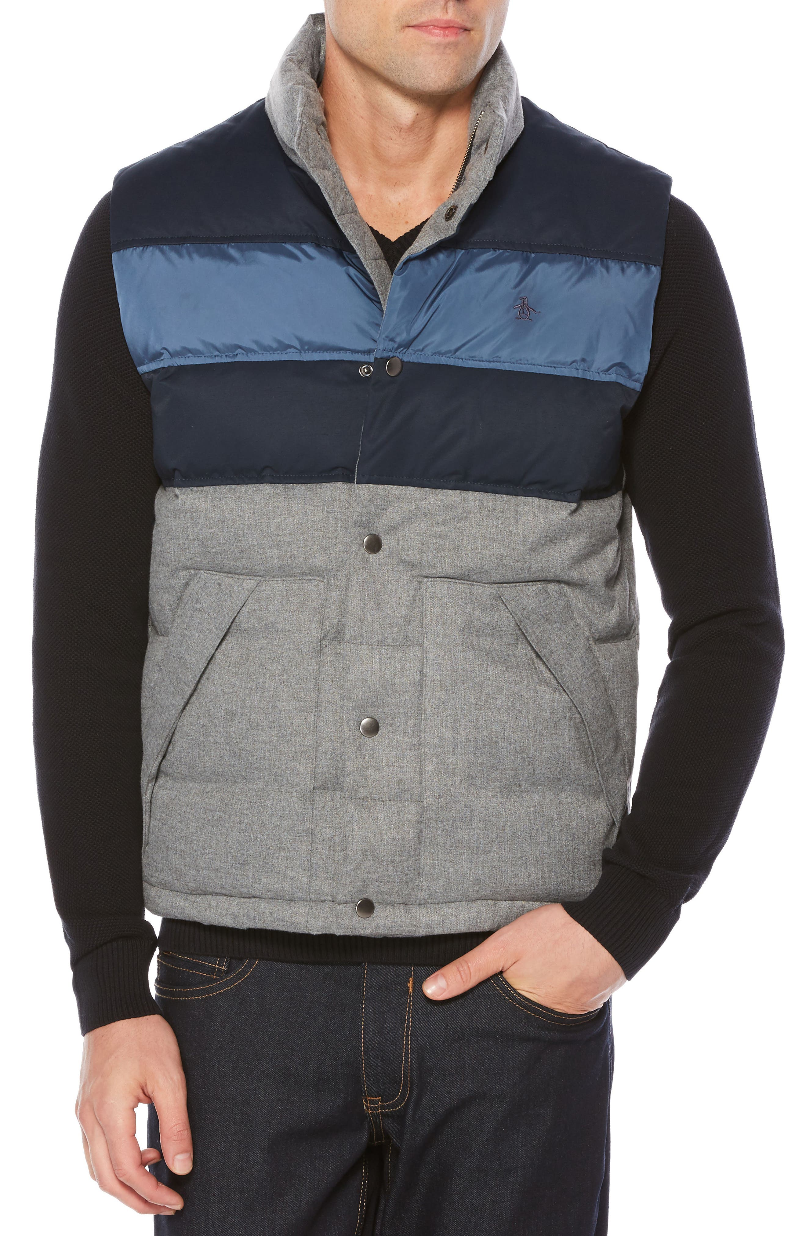 Original Penguin Colorblock Down Vest