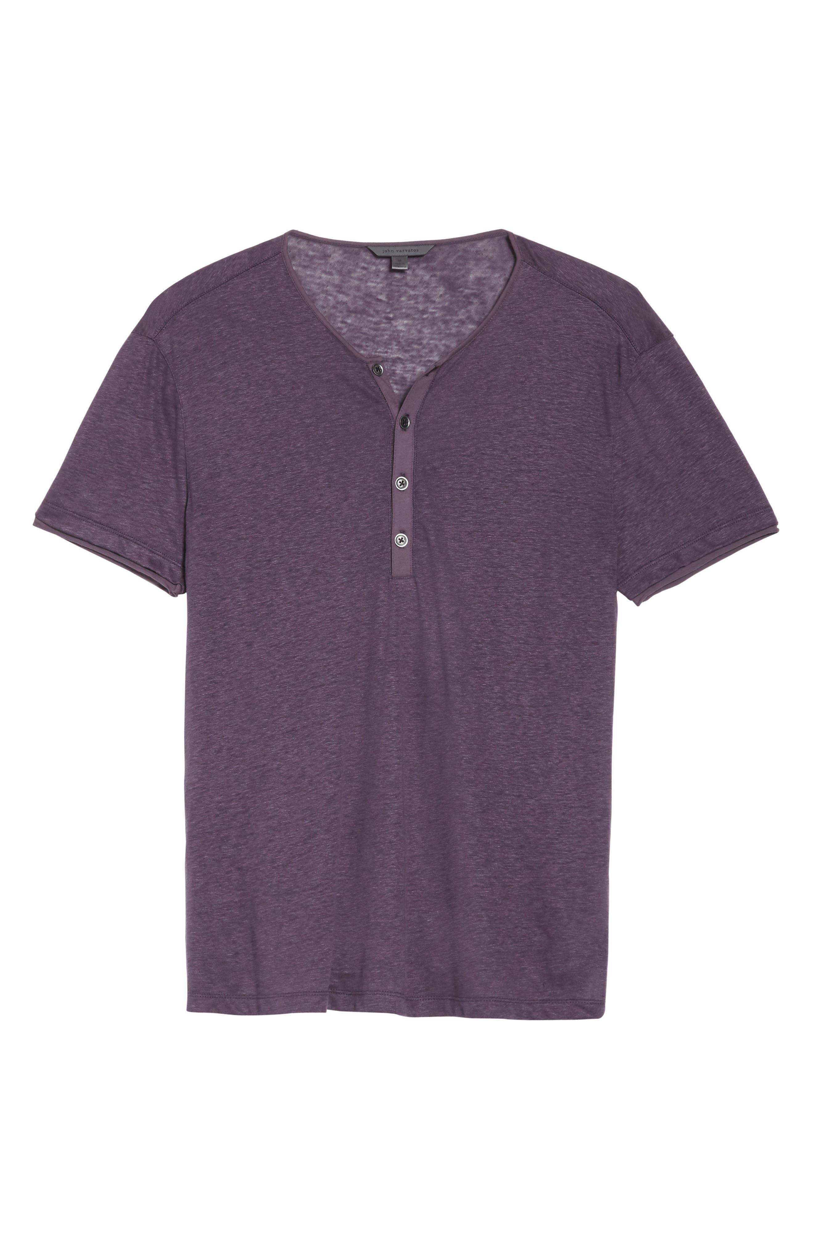 Alternate Image 6  - John Varvatos Collection Linen Henley T-Shirt