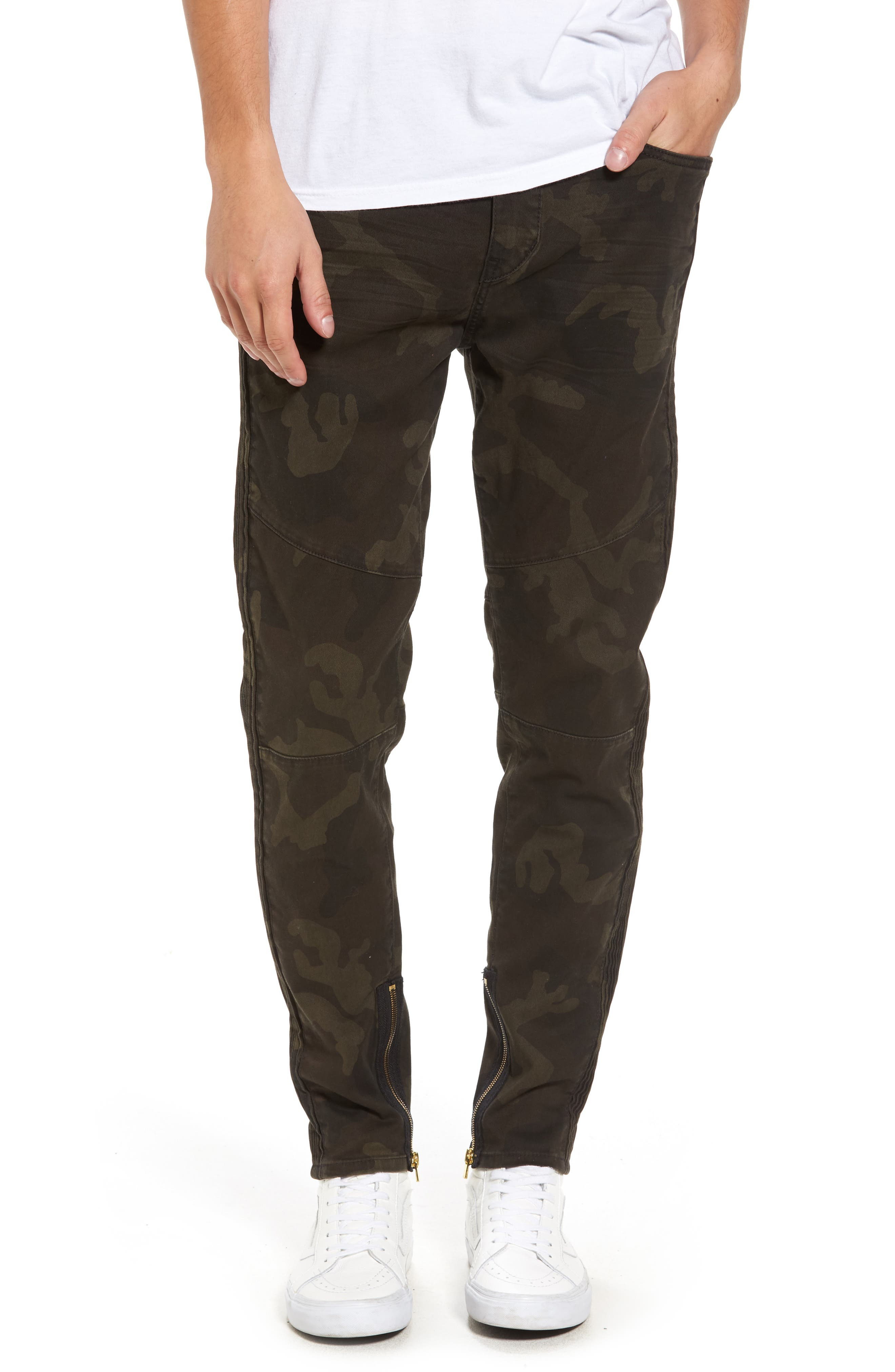 Racer Skinny Fit Jeans,                         Main,                         color, Rough Turf