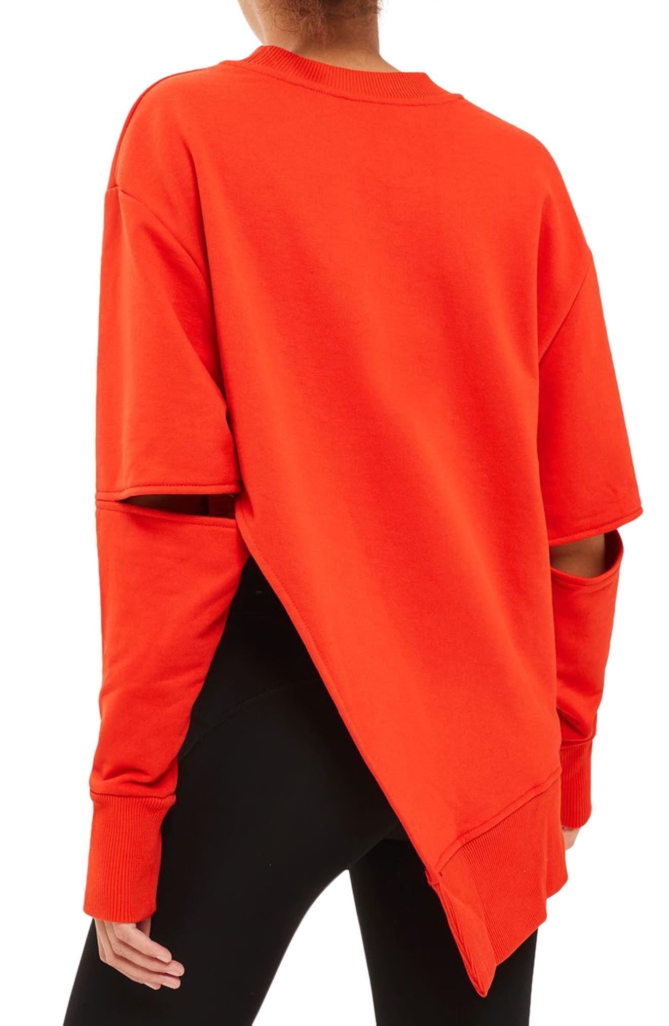 Alternate Image 2  - IVY PARK® Logo Embossed Sliced Sweatshirt