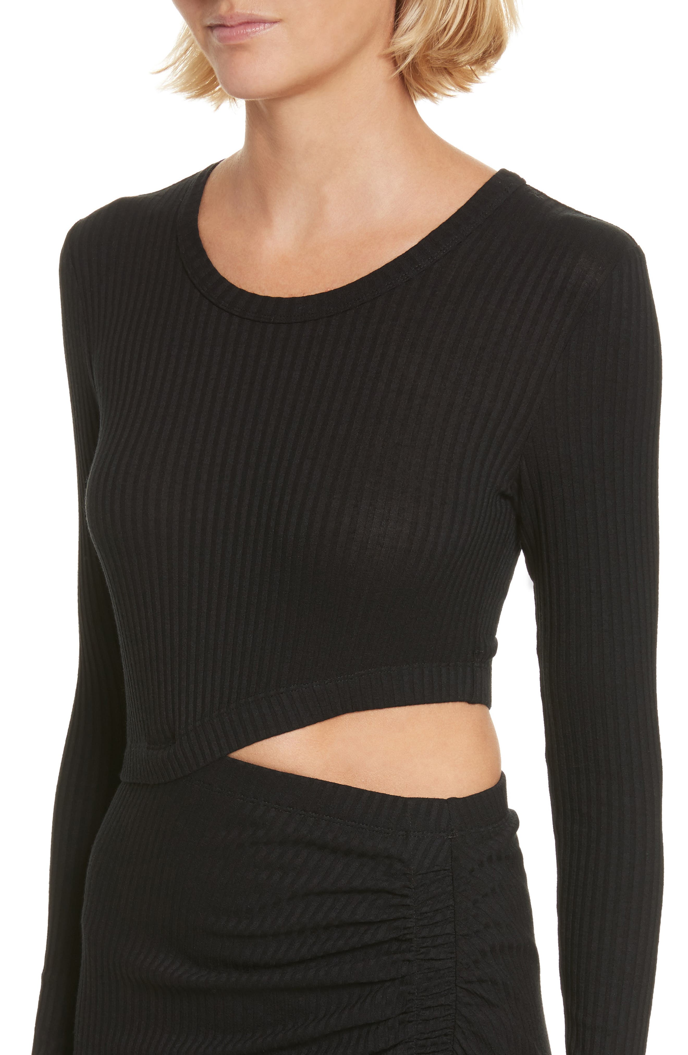 Rooney Cutout Dress,                             Alternate thumbnail 4, color,                             Black