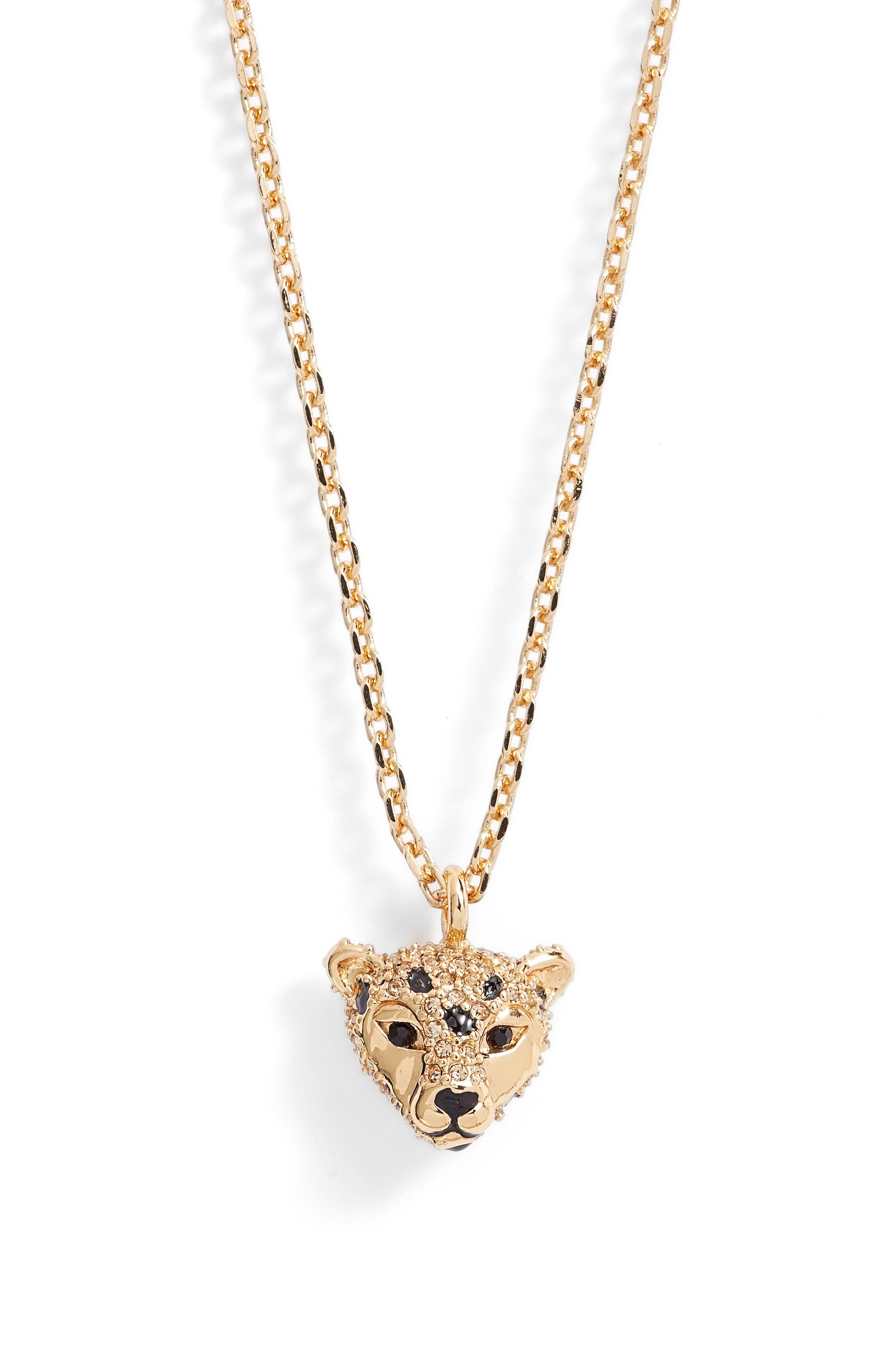 kate spade new york run wild cheetah pendant necklace