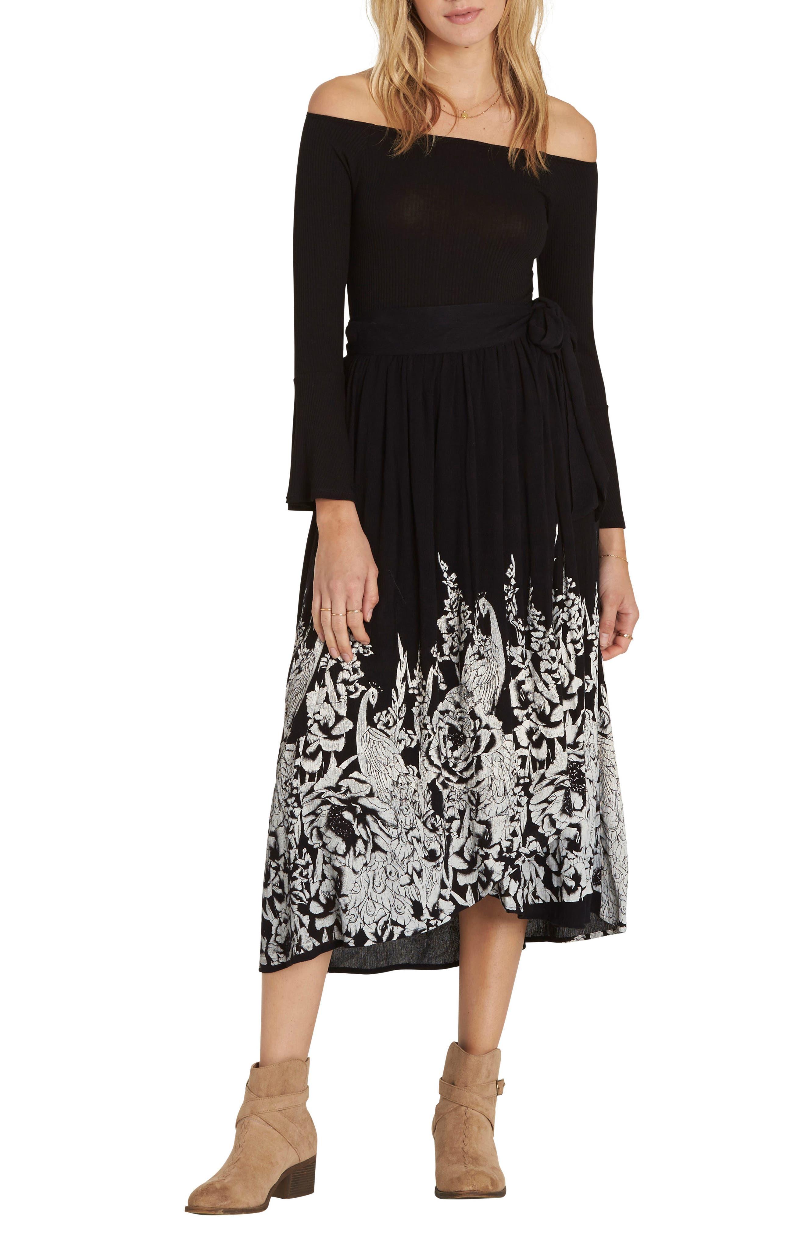 Infinite Midi Skirt,                             Main thumbnail 1, color,                             Black