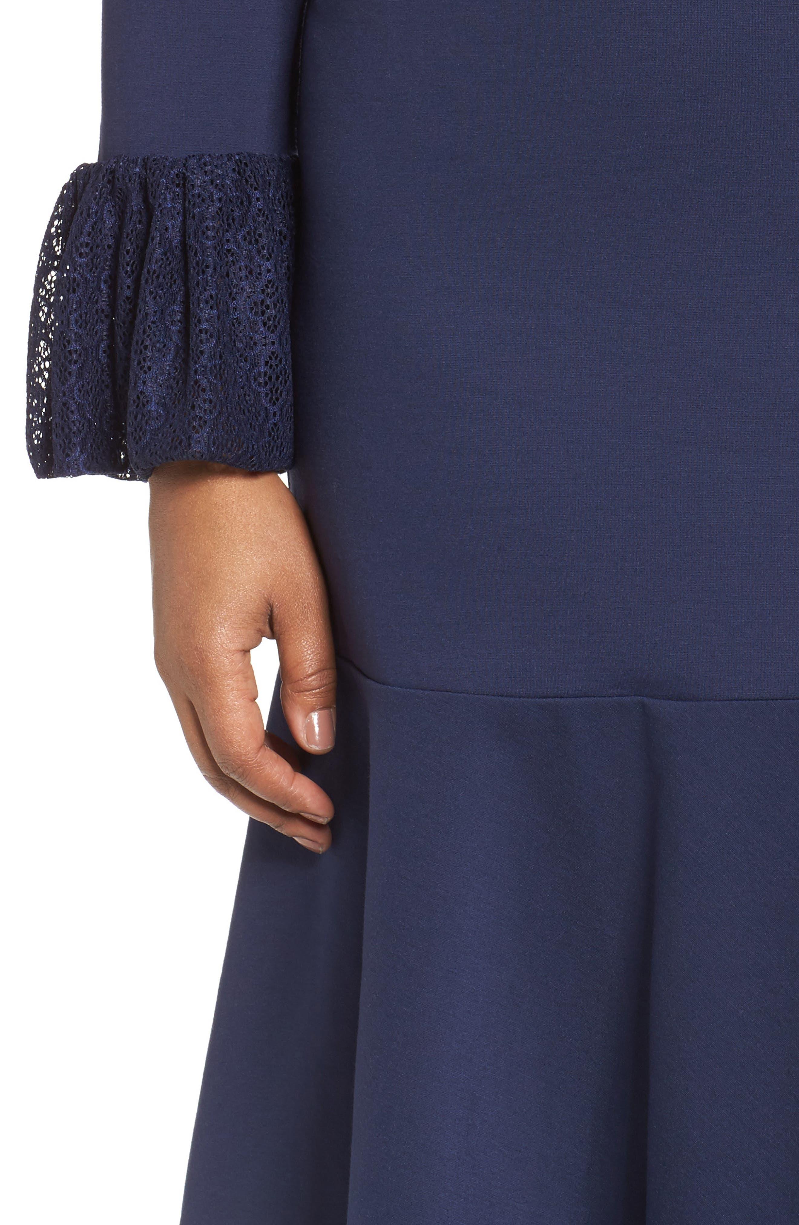 Alternate Image 4  - Sejour Flounce Hem Dress (Plus Size)