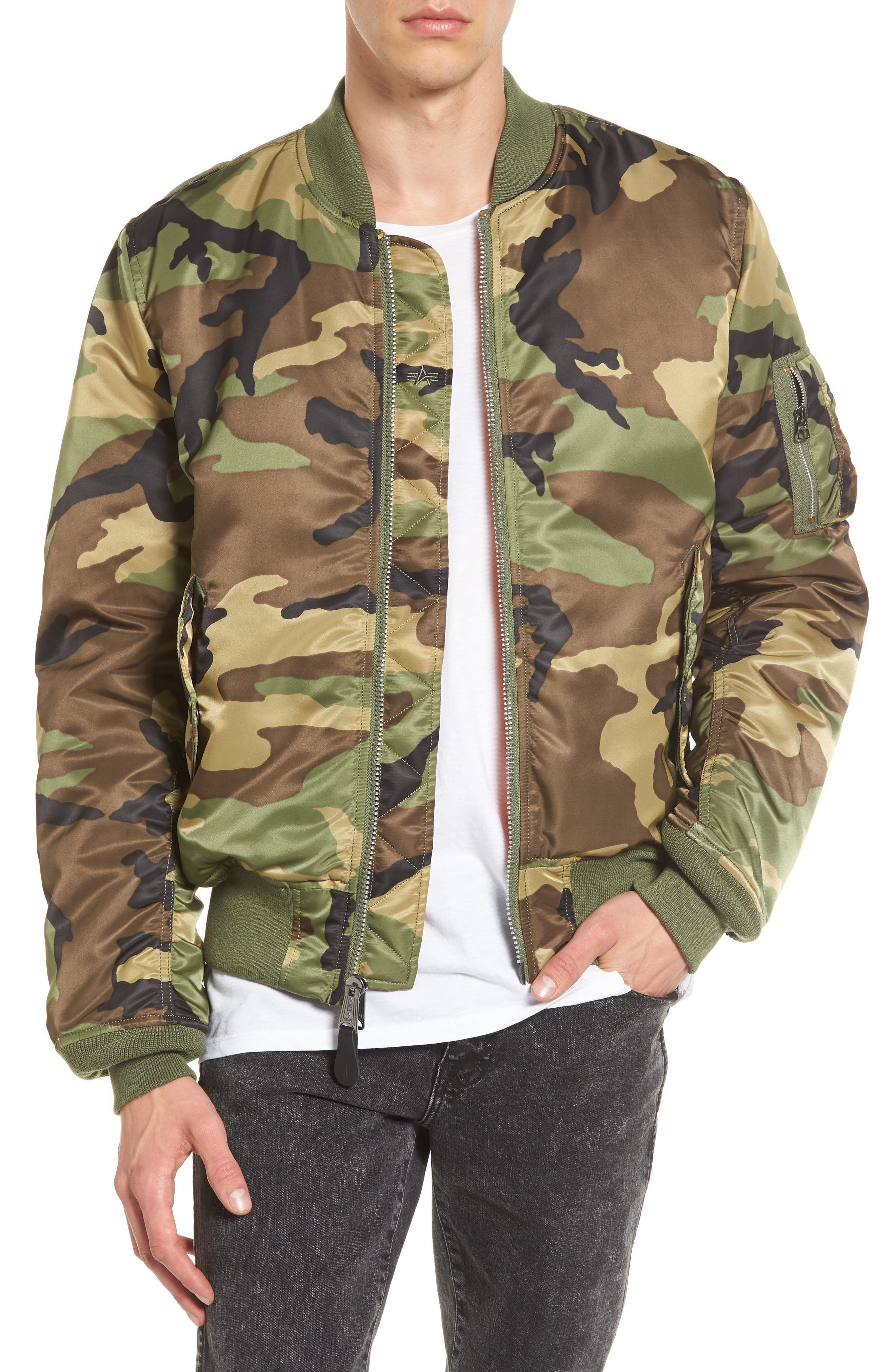 Main Image - Alpha Industries 'MA-1' Slim Fit Bomber Jacket
