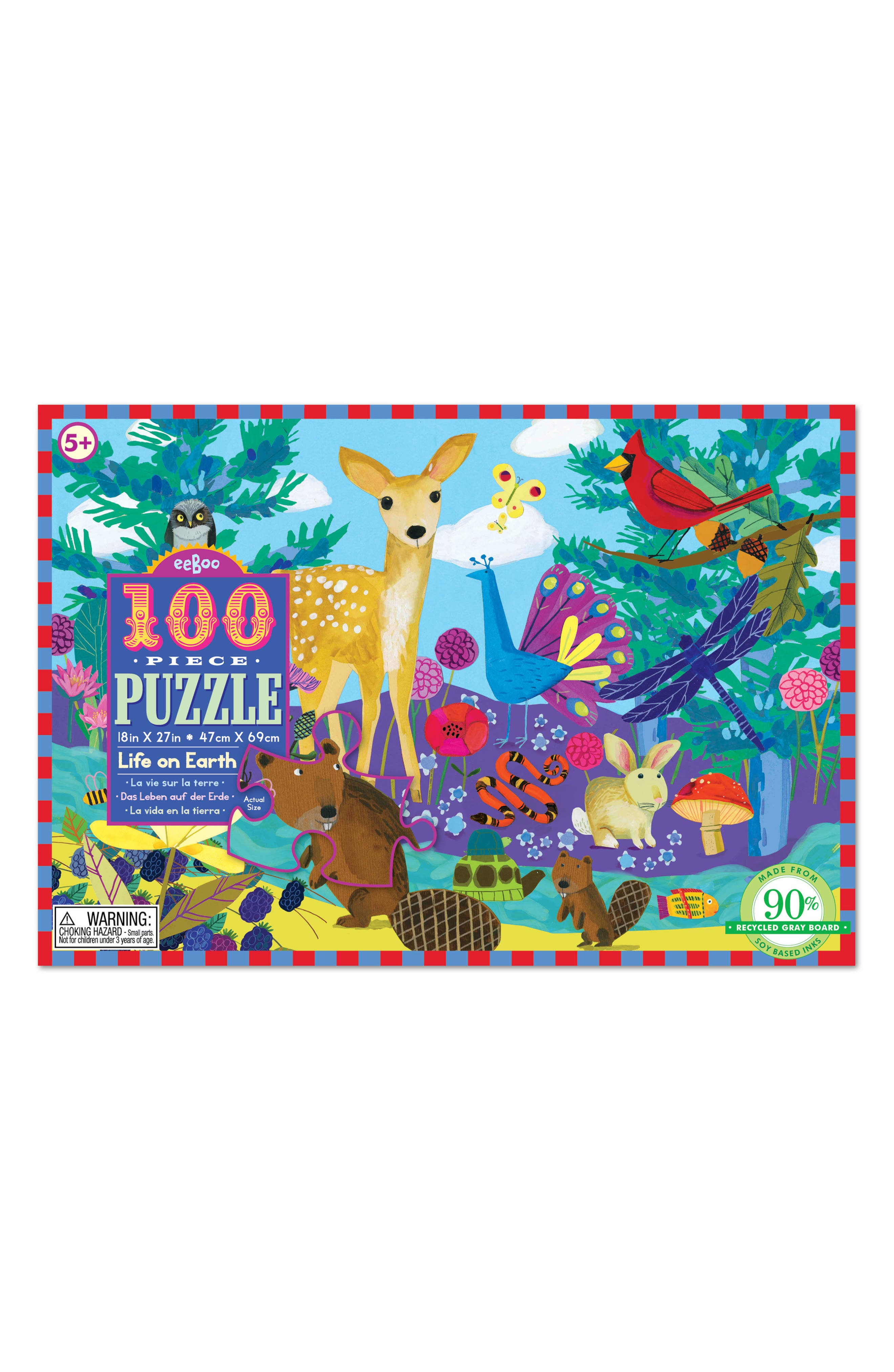 Alternate Image 1 Selected - eeBoo Life on Earth 100-Piece Puzzle