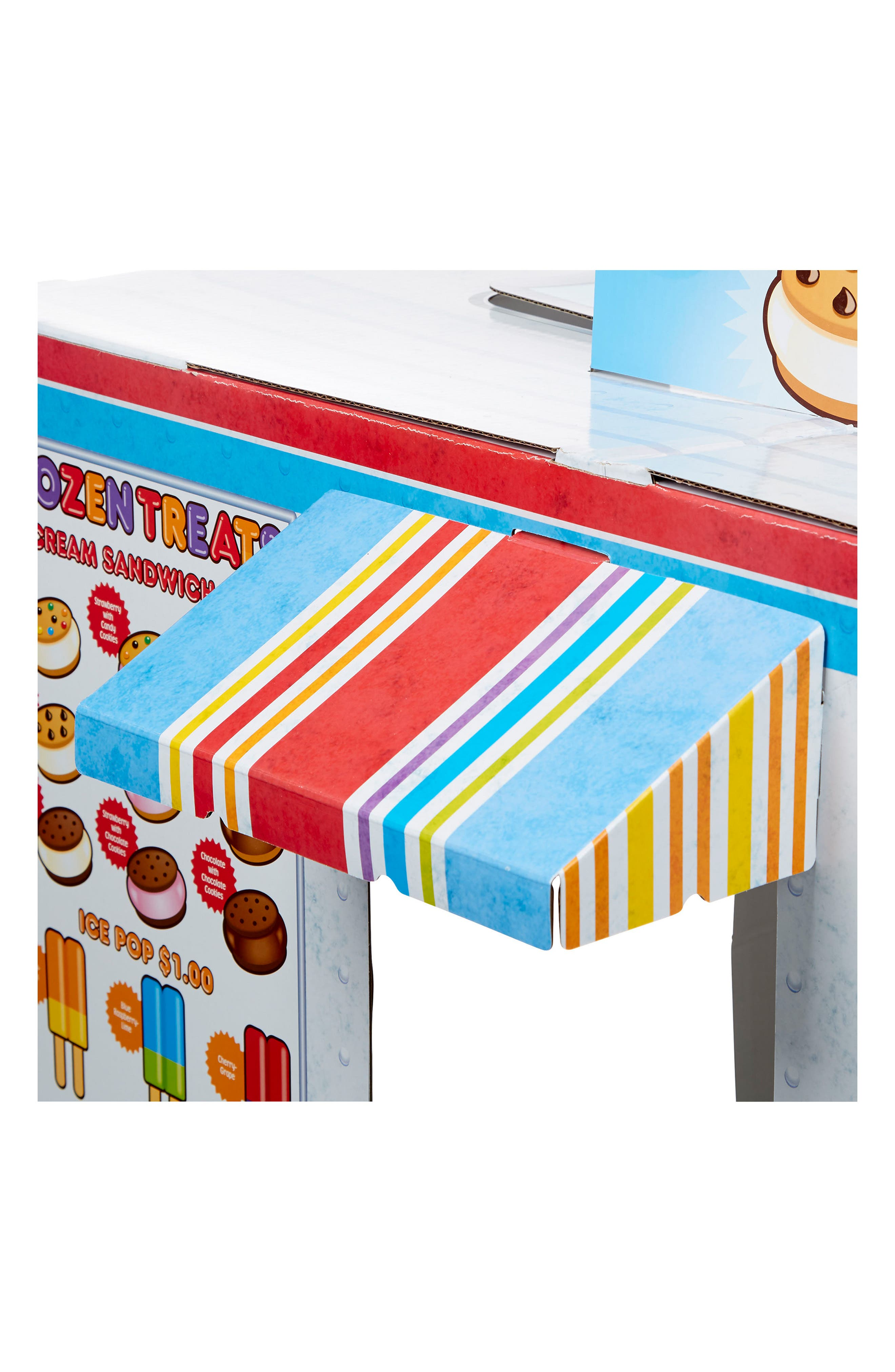 Ice Cream & Food Truck Indoor Playhouse,                             Alternate thumbnail 5, color,                             White