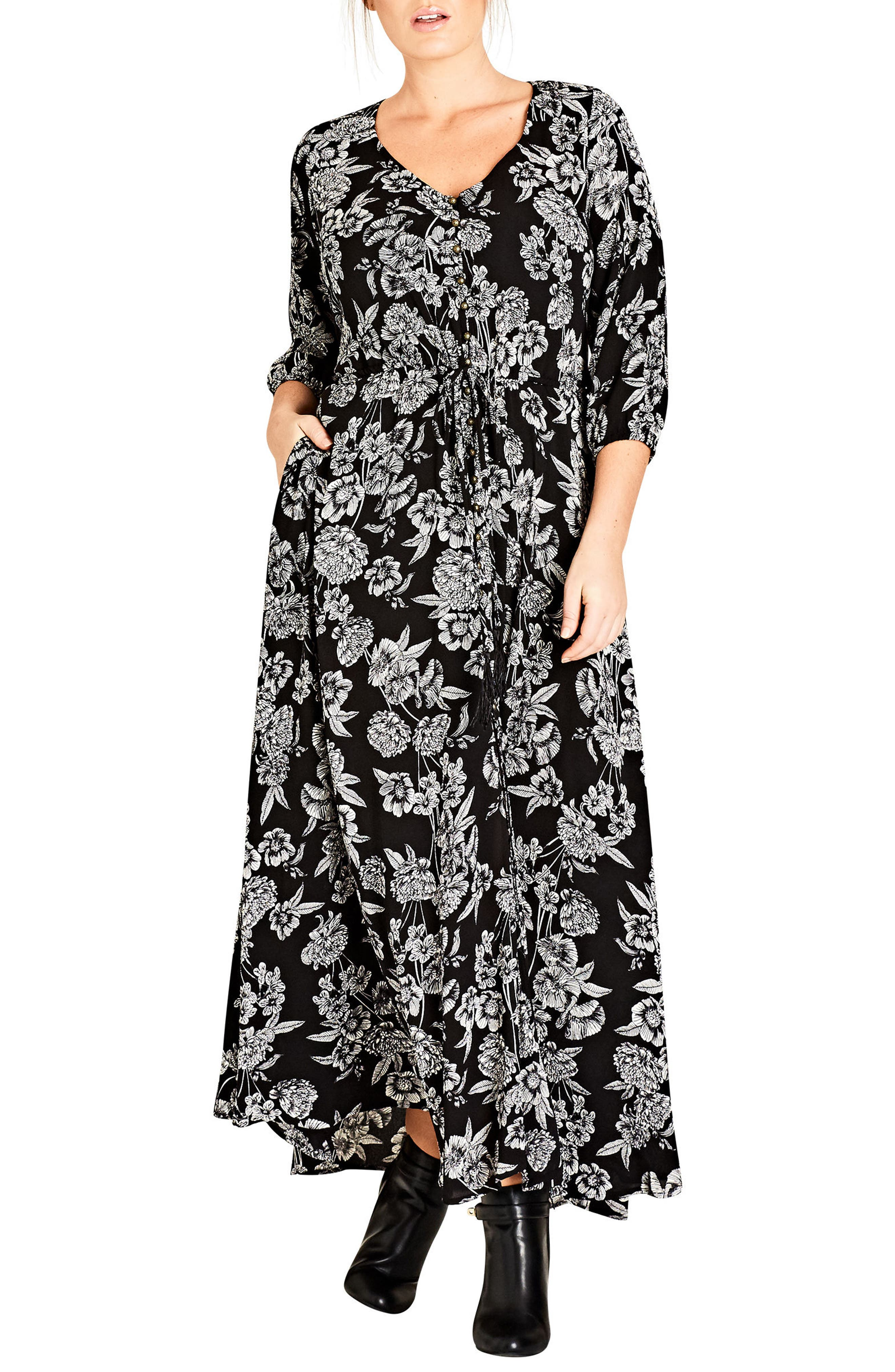Alternate Image 1 Selected - City Chic Bloomsbury Maxi Dress (Plus Size)