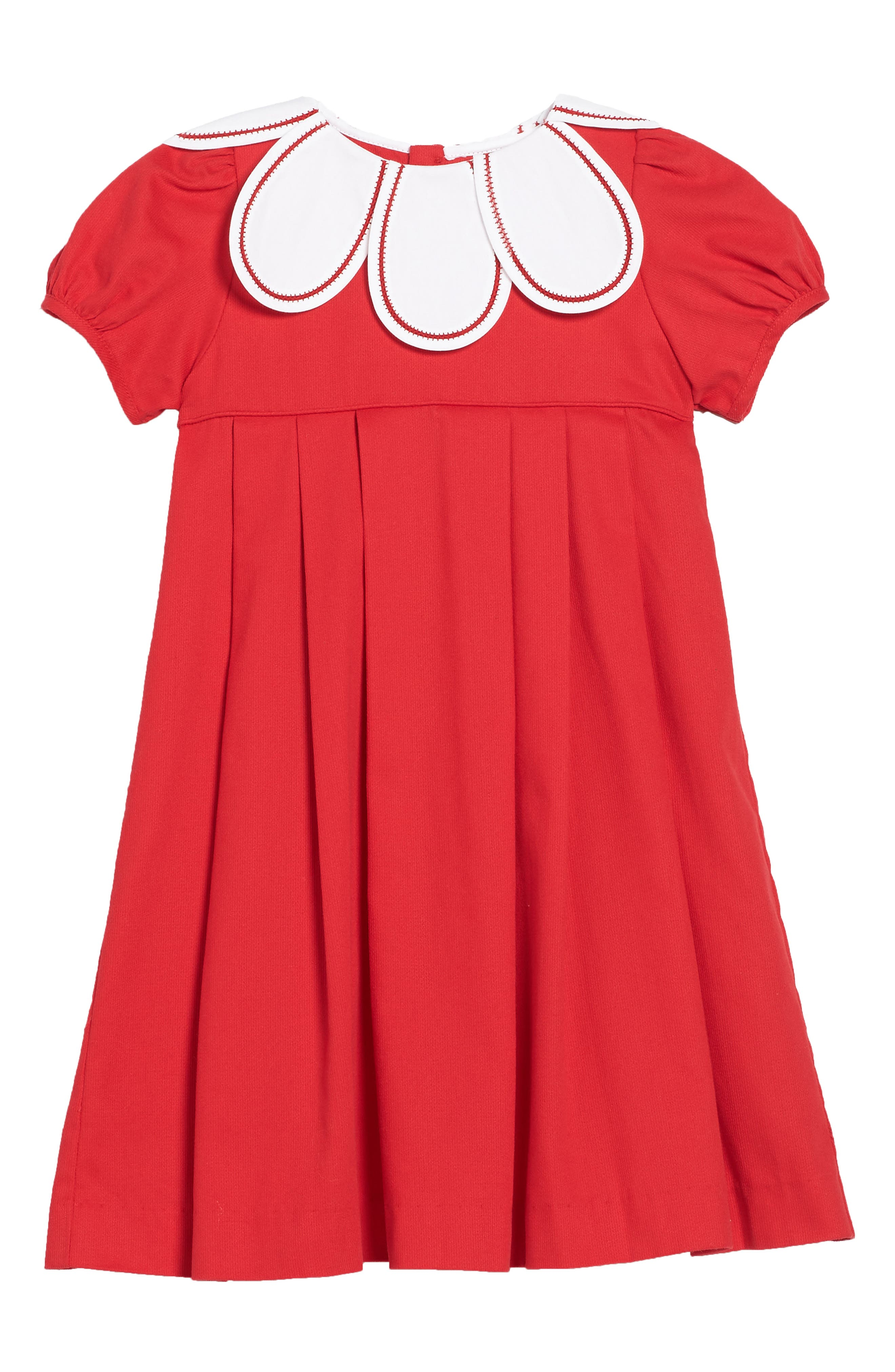 Daisy Collar Corduroy Dress,                         Main,                         color, Red