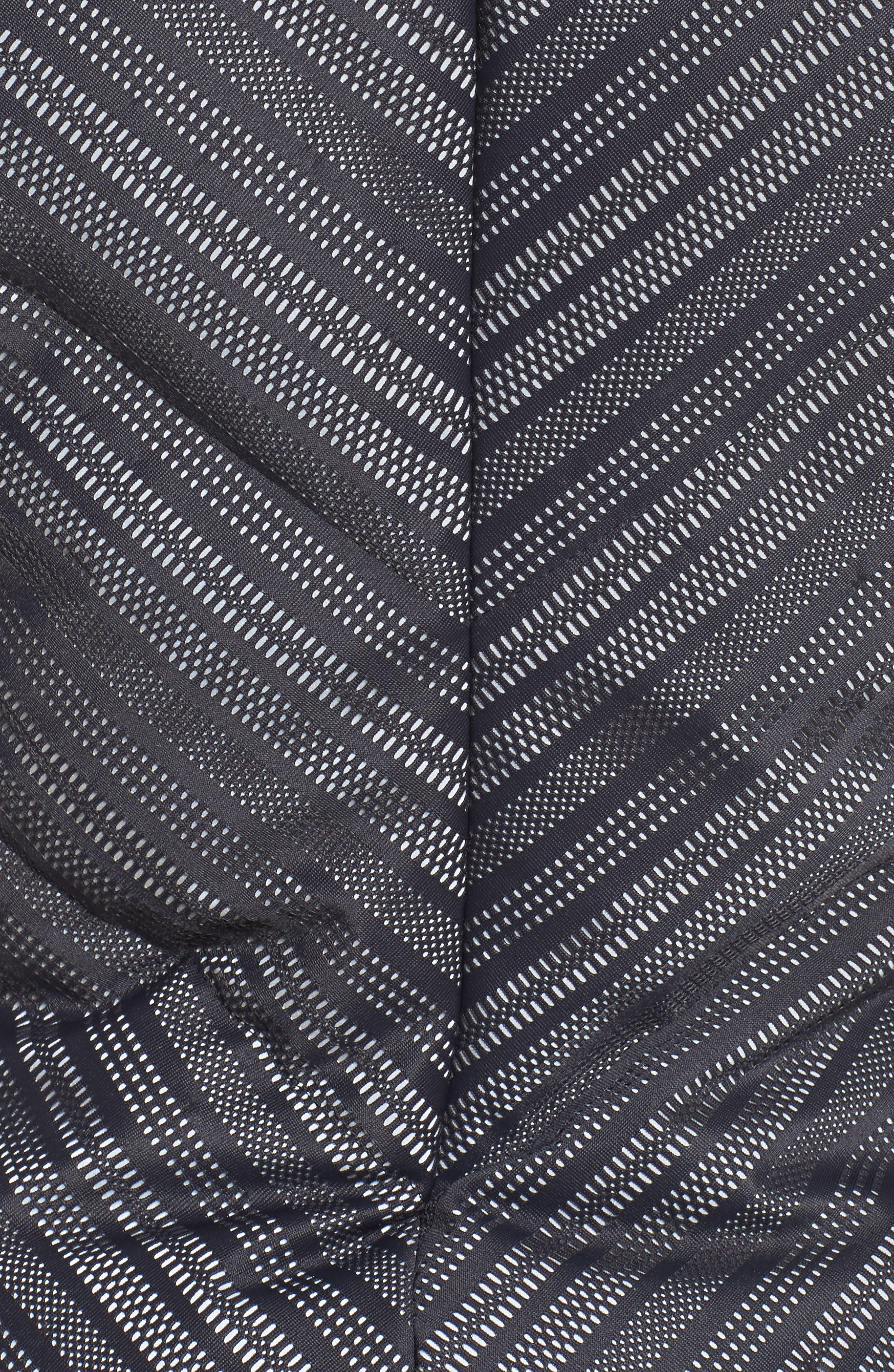Chevron Reflective Down Vest,                             Alternate thumbnail 6, color,                             Black