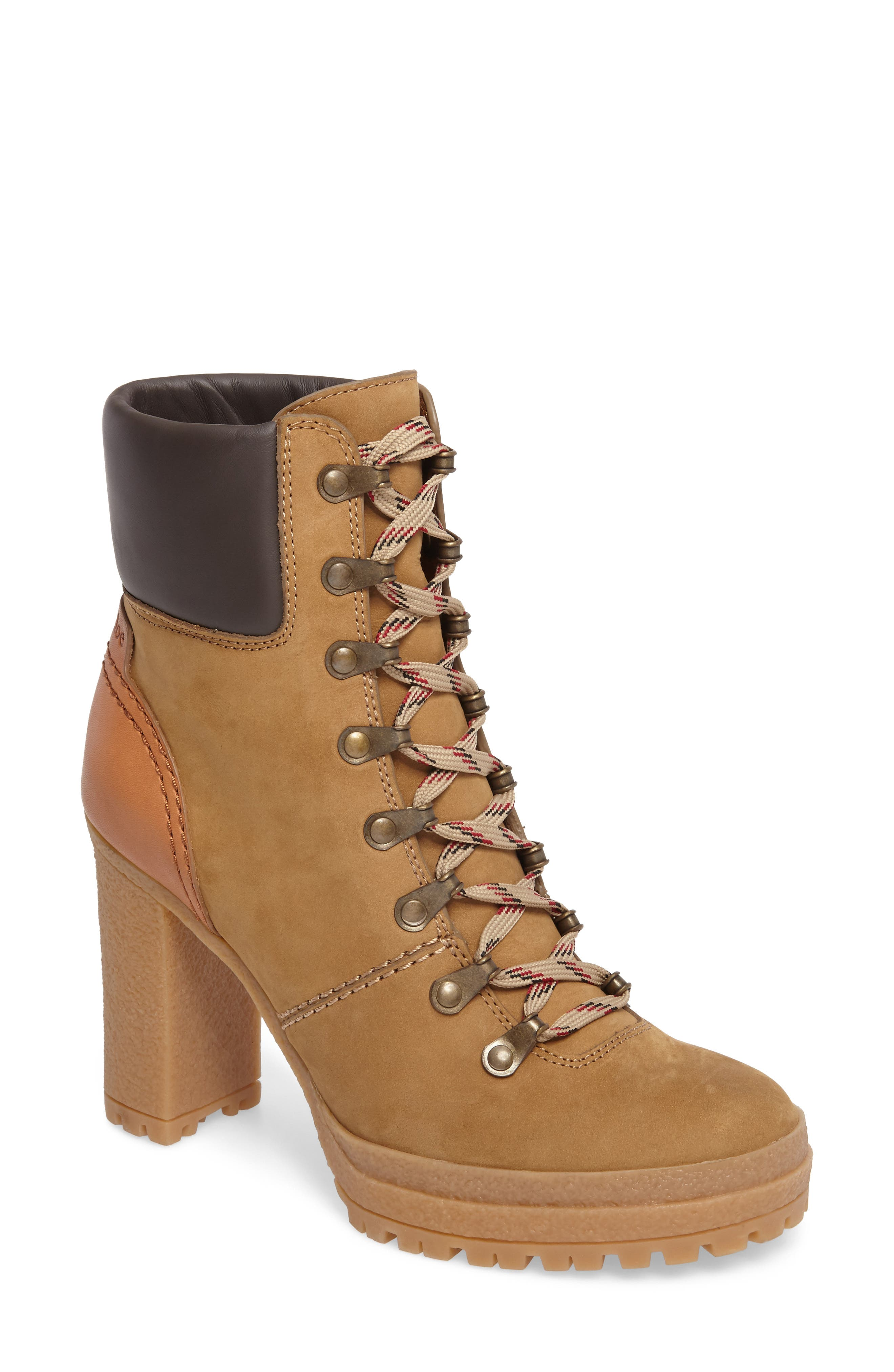 Eileen Platform Boot,                         Main,                         color, Taupe