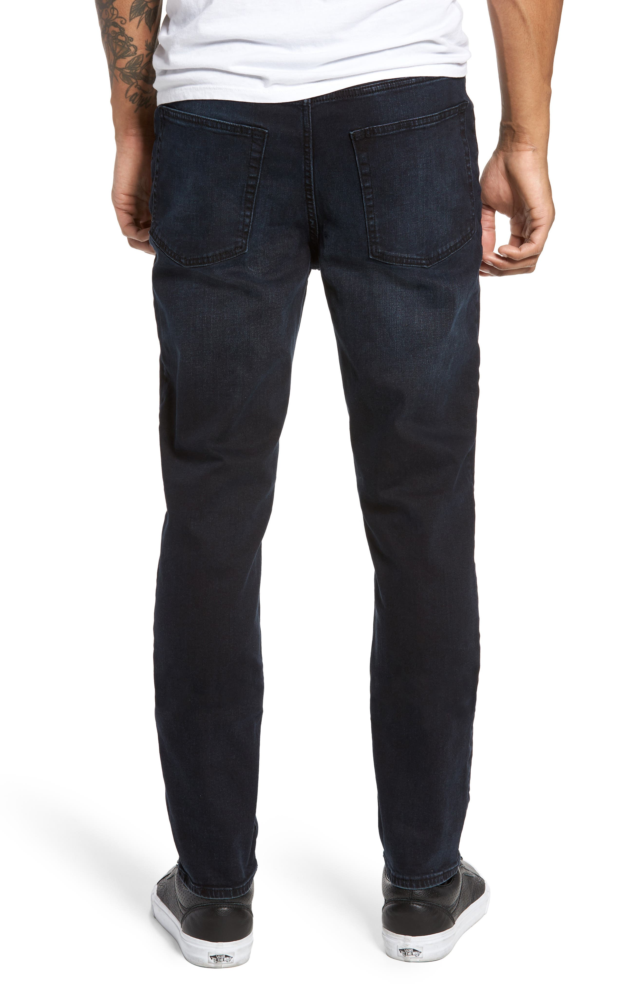 Sonic Skinny Fit Jeans,                             Alternate thumbnail 2, color,                             Blue/ Black