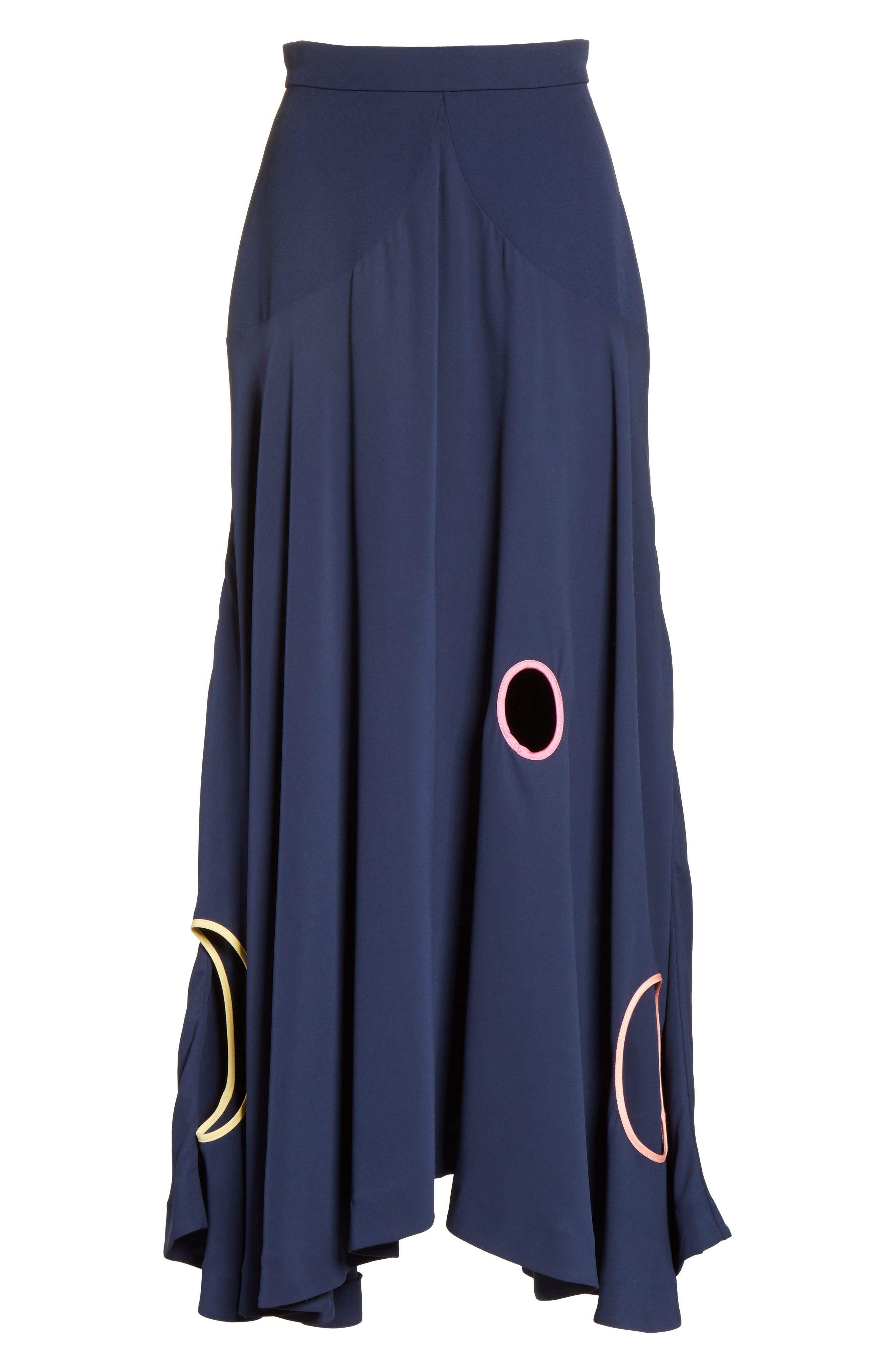 Carson Silk Skirt,                             Alternate thumbnail 6, color,                             Squid Ink