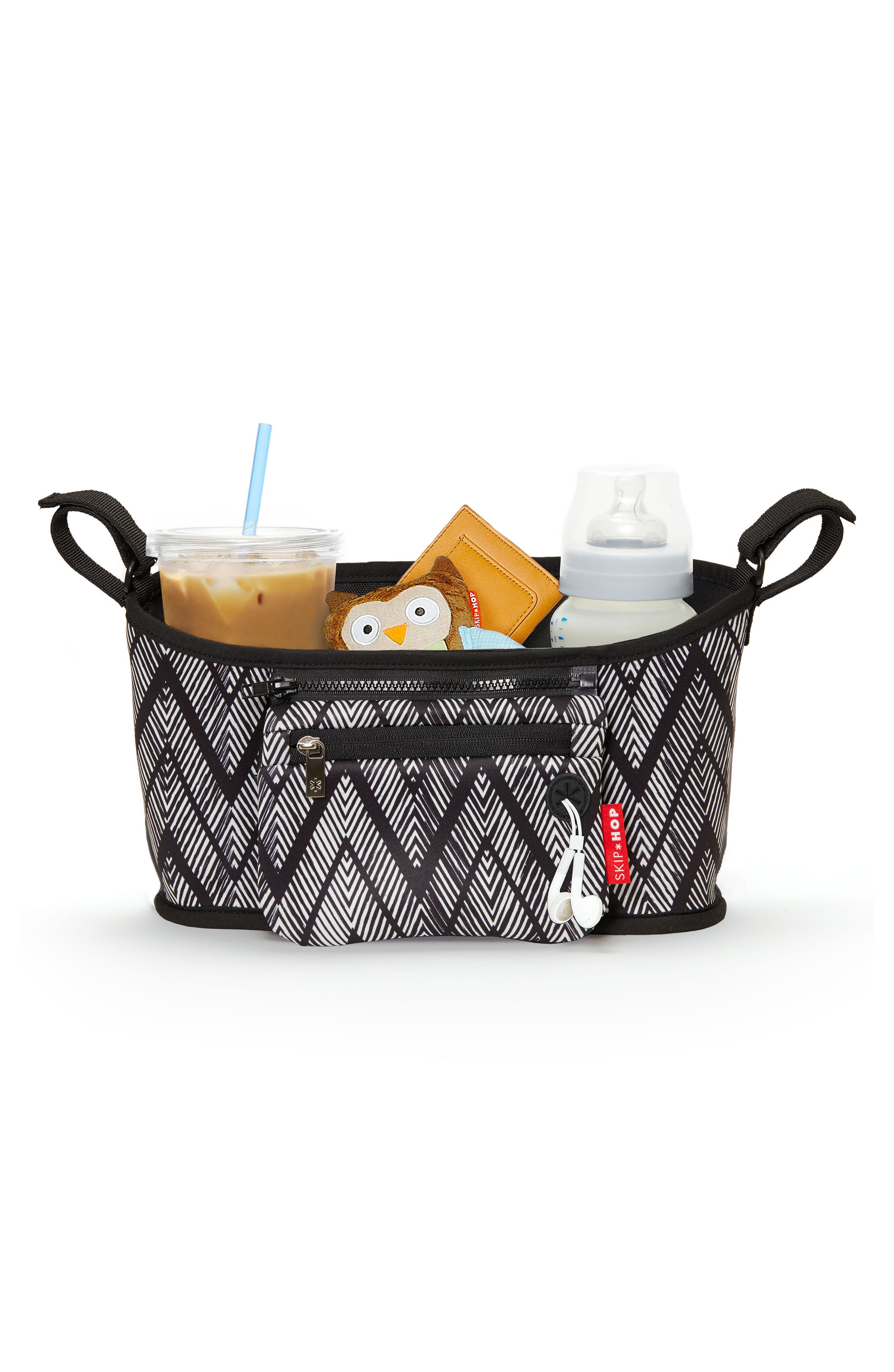 Stroller Organizer,                             Alternate thumbnail 2, color,                             Zig Zag Zebra