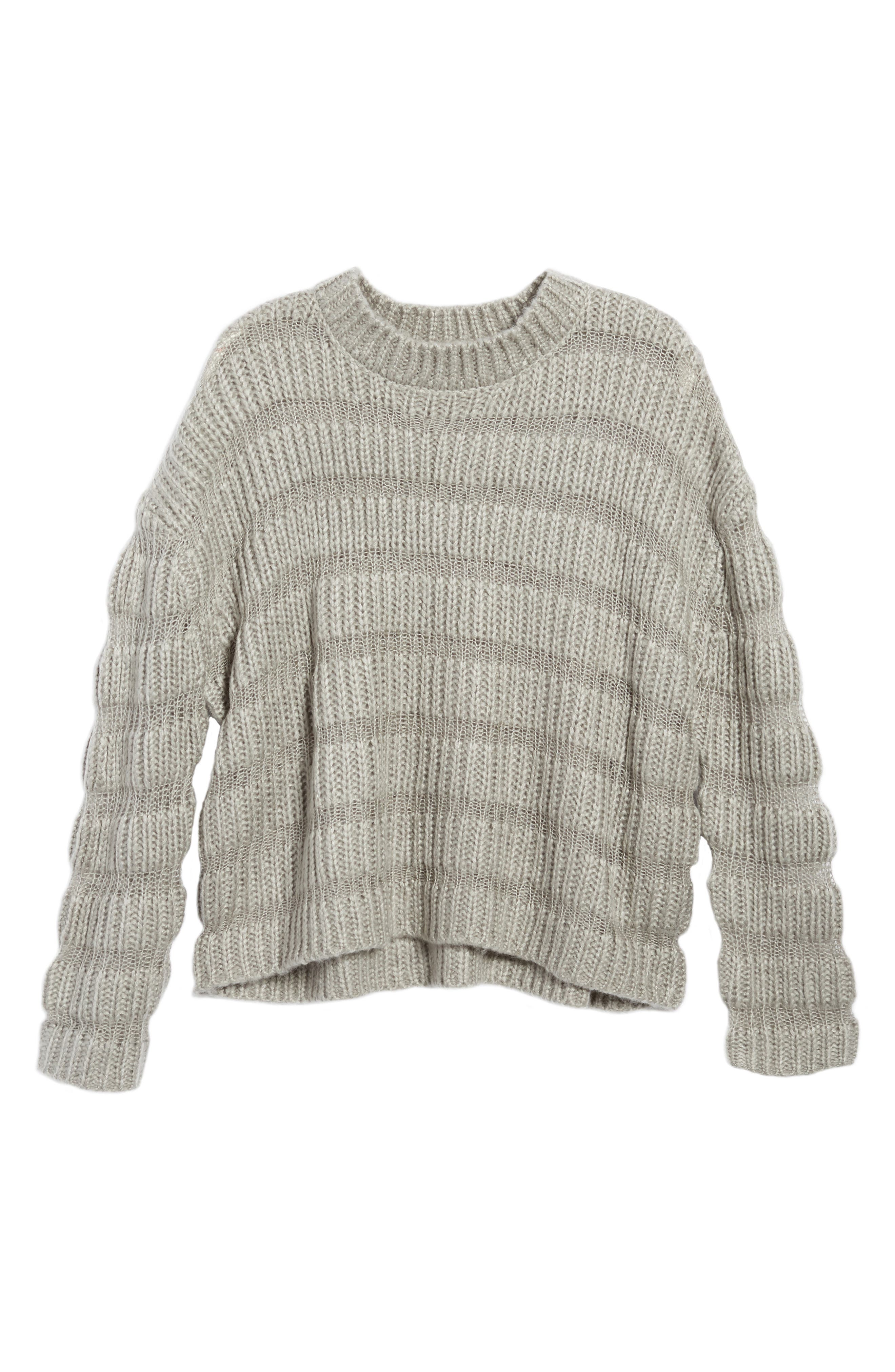 Alternate Image 7  - Moon River Textured Stripe Crop Sweater