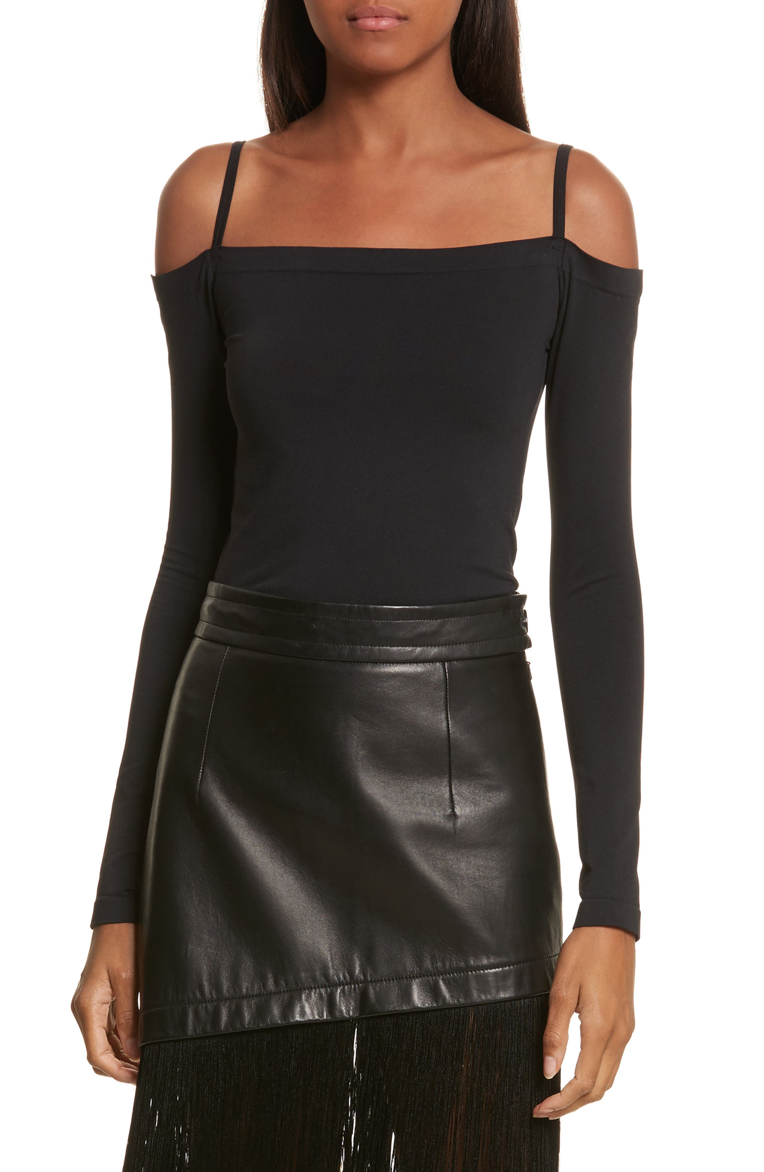Main Image - Helmut Lang Seamless Off the Shoulder Top