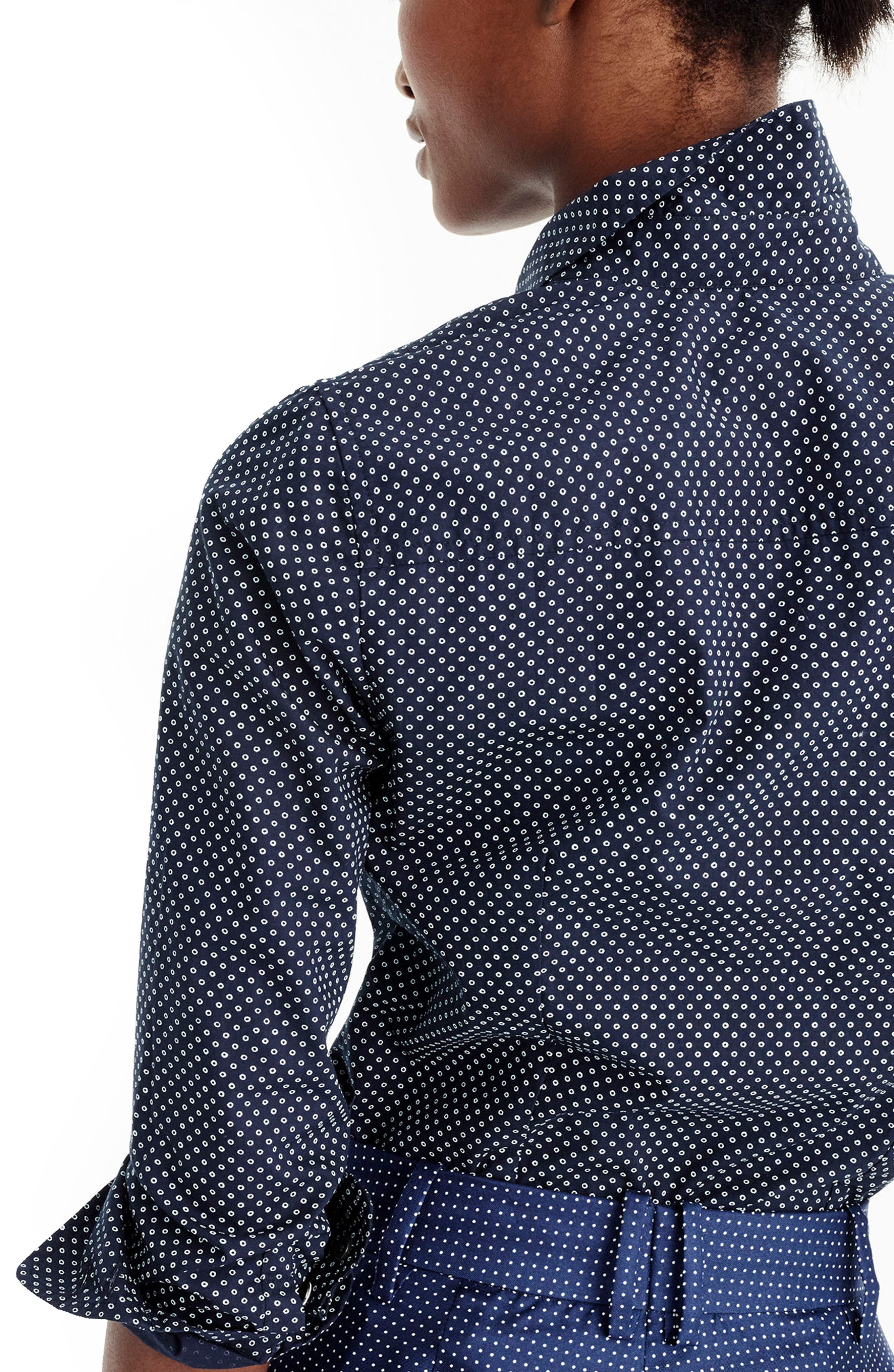 Alternate Image 2  - J.Crew Polka Dot Button-Up Shirt (Regular & Petite)