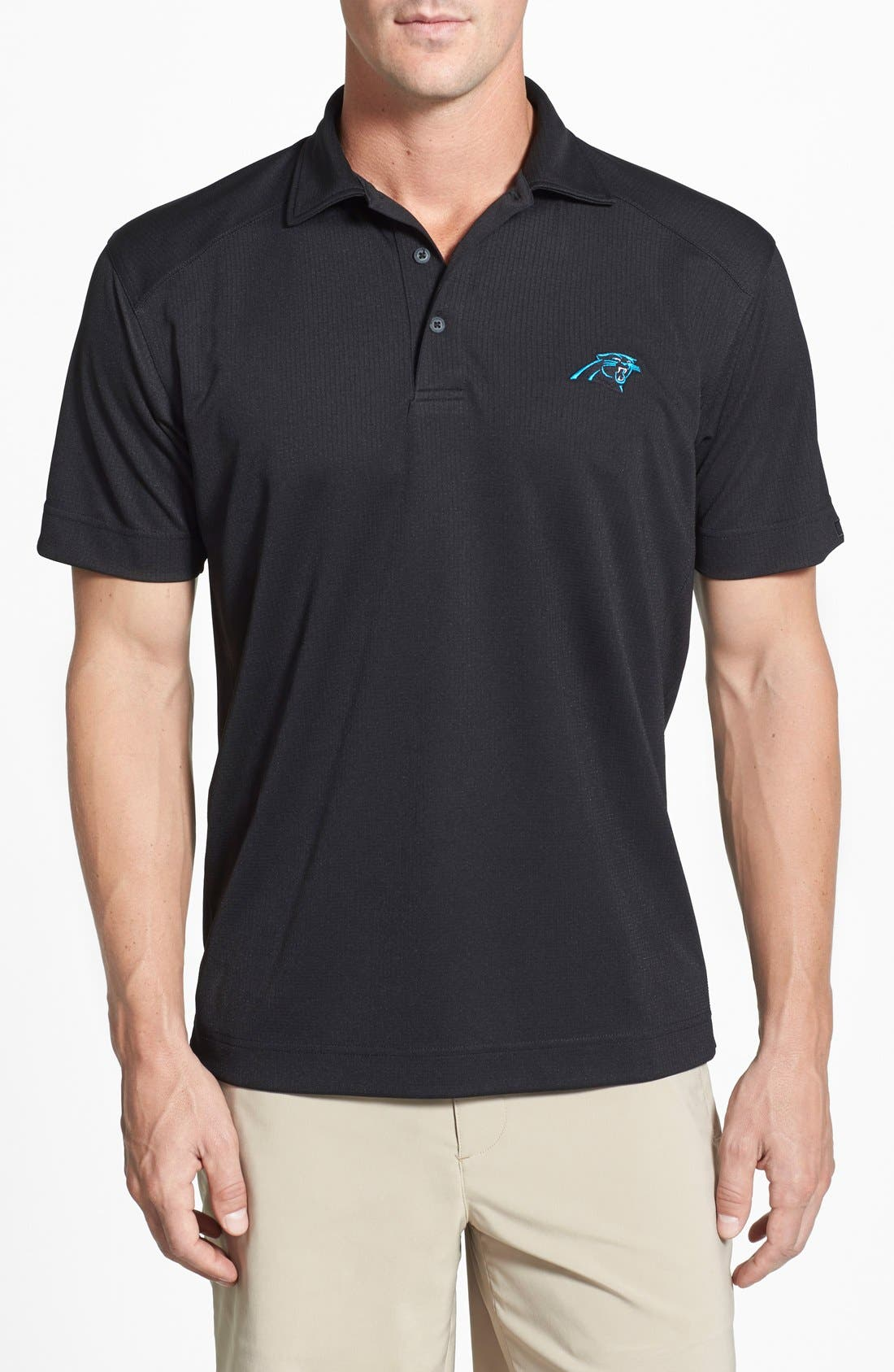 Carolina Panthers - Genre DryTec Moisture Wicking Polo,                             Main thumbnail 1, color,                             Black