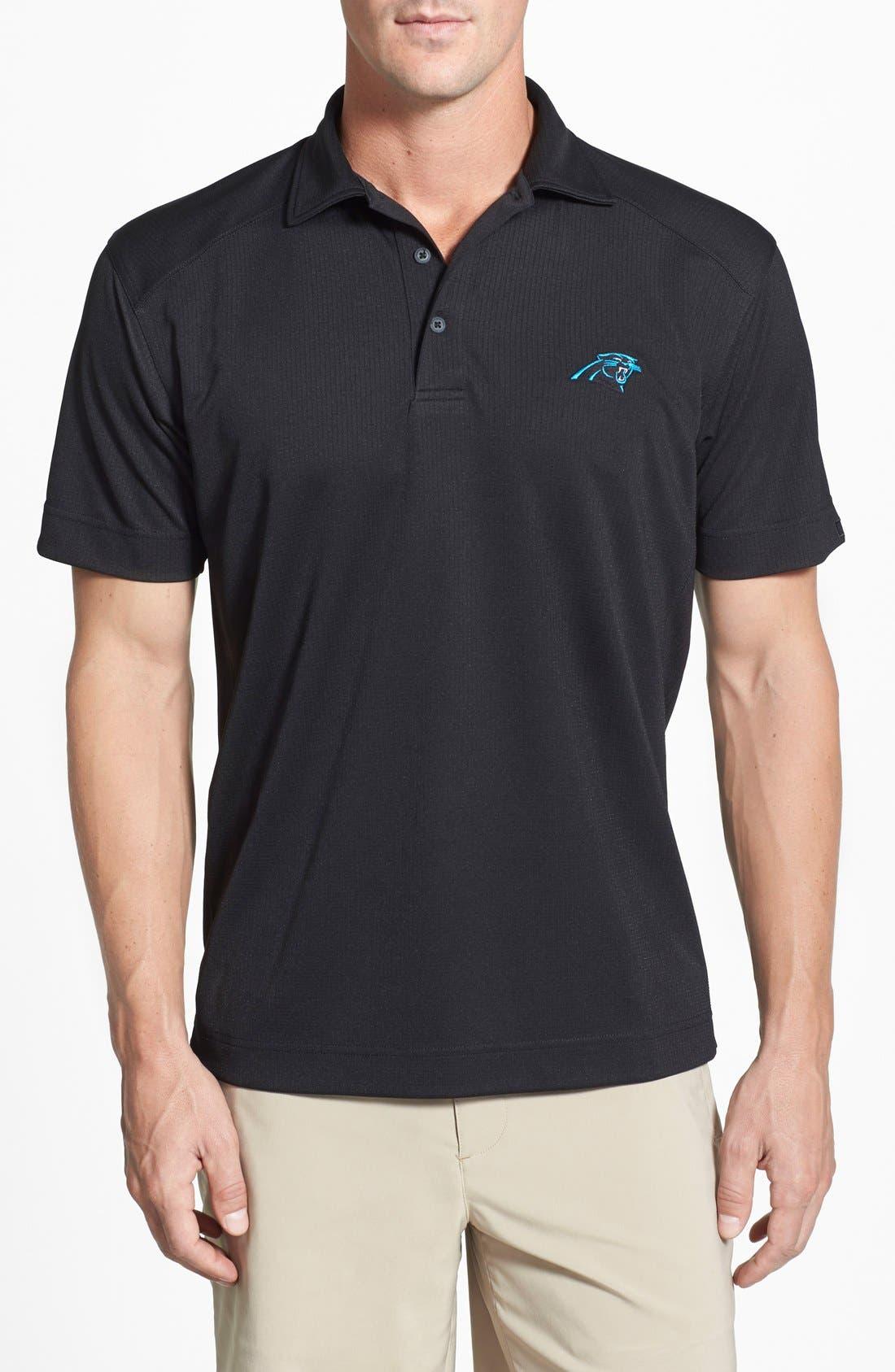 Carolina Panthers - Genre DryTec Moisture Wicking Polo,                         Main,                         color, Black