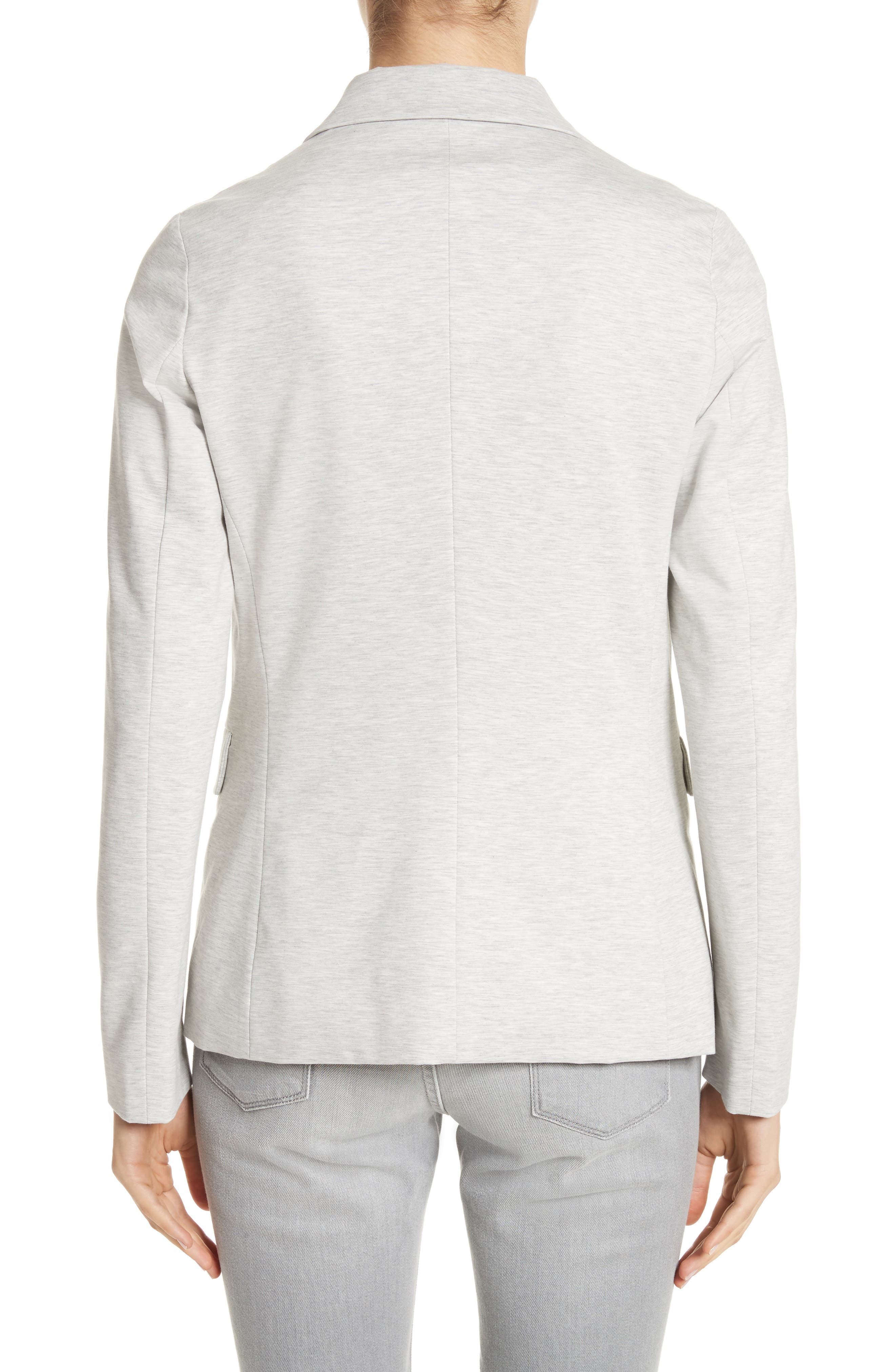 Rodier Jersey Blazer,                             Alternate thumbnail 2, color,                             Pearl Grey