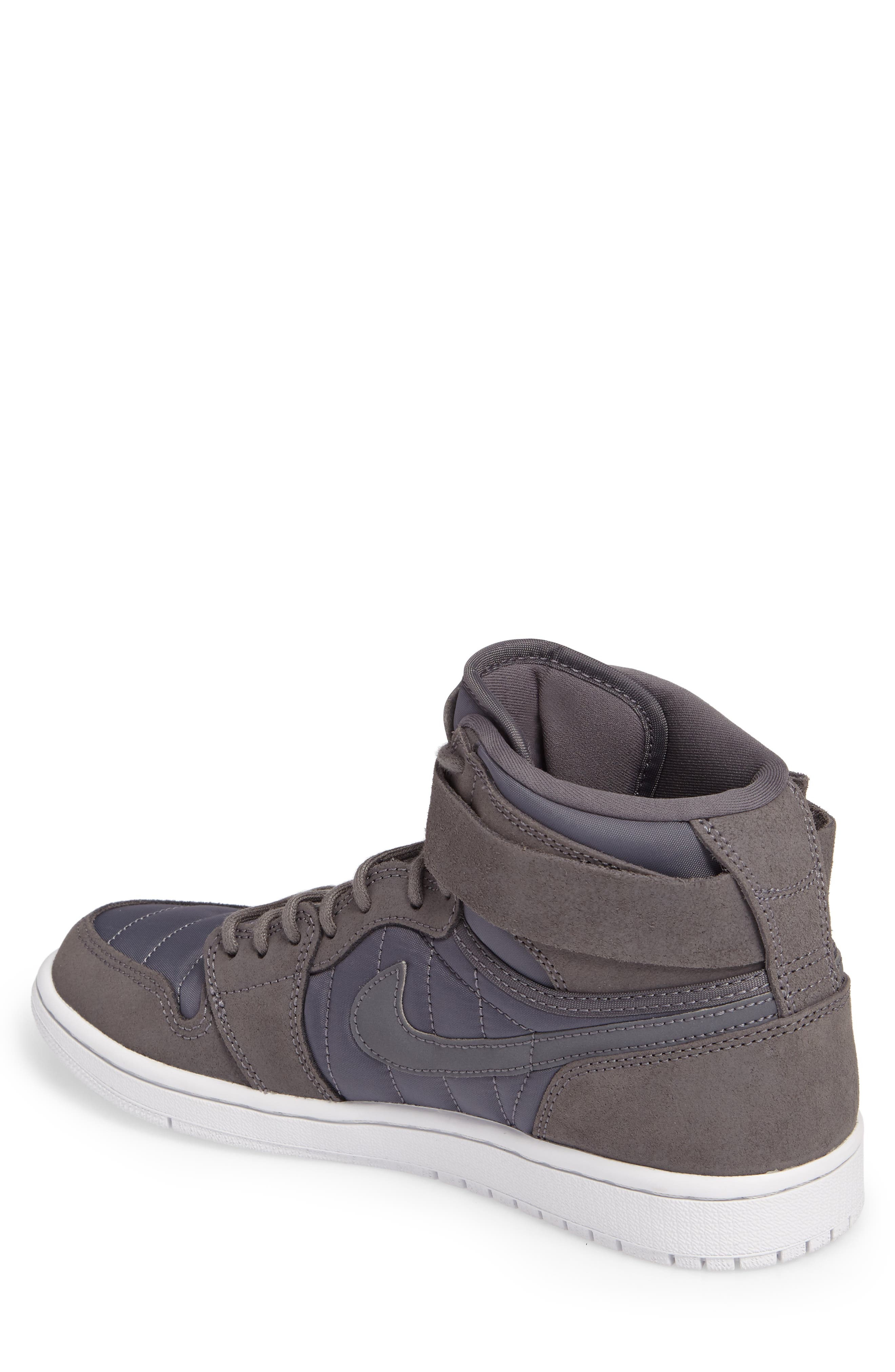 Air Jordan 1 Sneaker,                             Alternate thumbnail 2, color,                             Dark Grey/Anthracite/Platinum