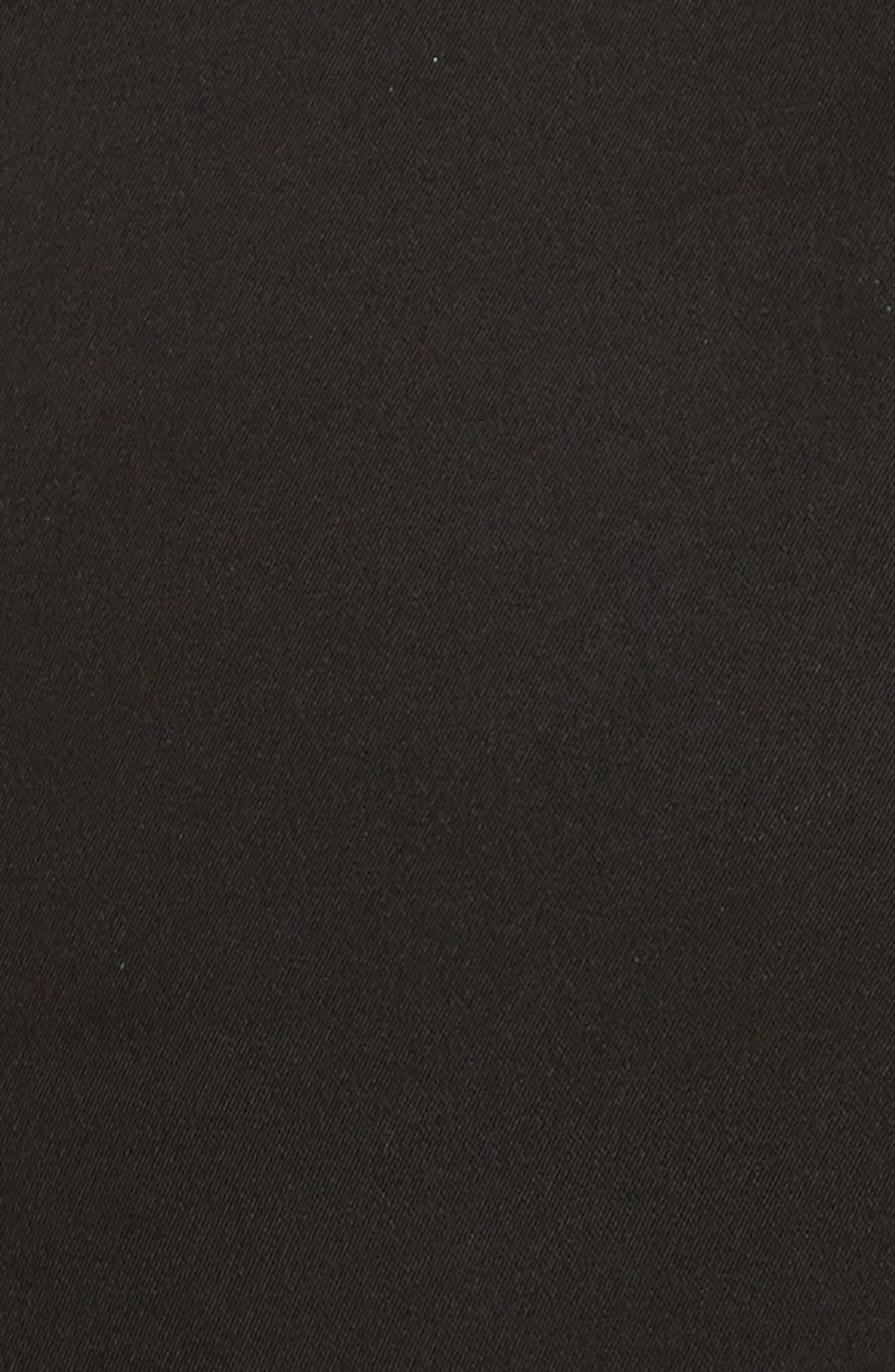 Alternate Image 5  - SALONI Faux Feather Trim Satin Backed Crepe Strapless Jumpsuit