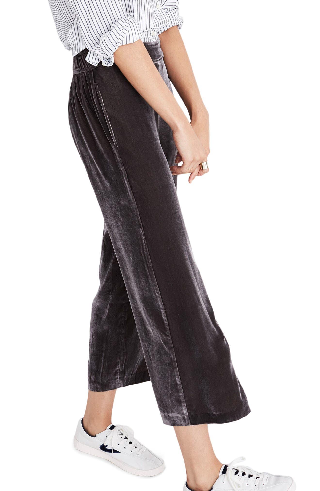 Velvet Pants,                         Main,                         color, Dark Metal