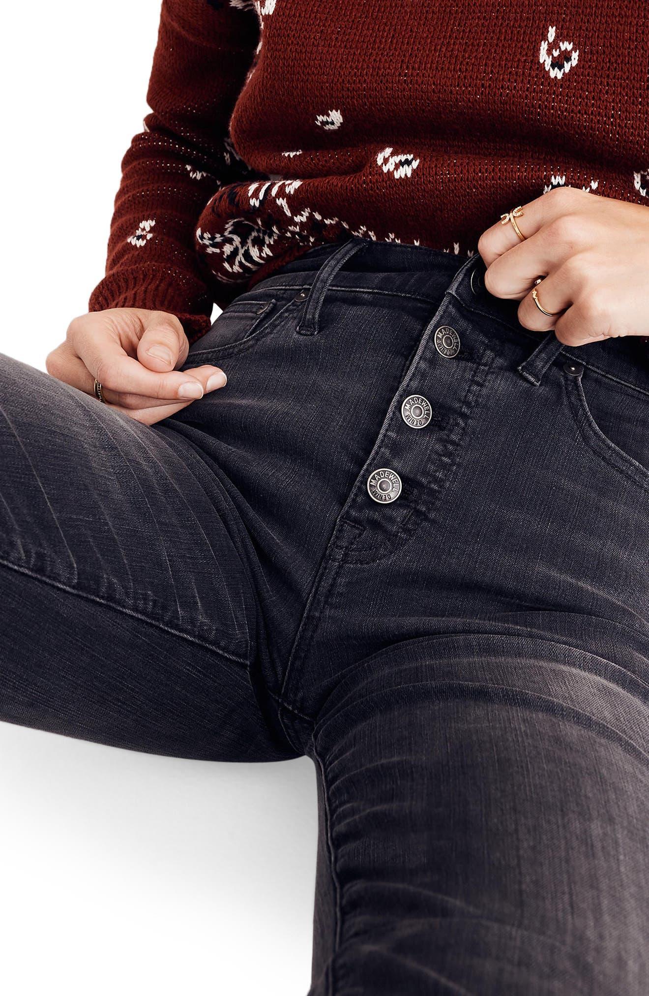 Cali Demi Bootcut Crop Jeans,                             Alternate thumbnail 4, color,                             Woodston Wash