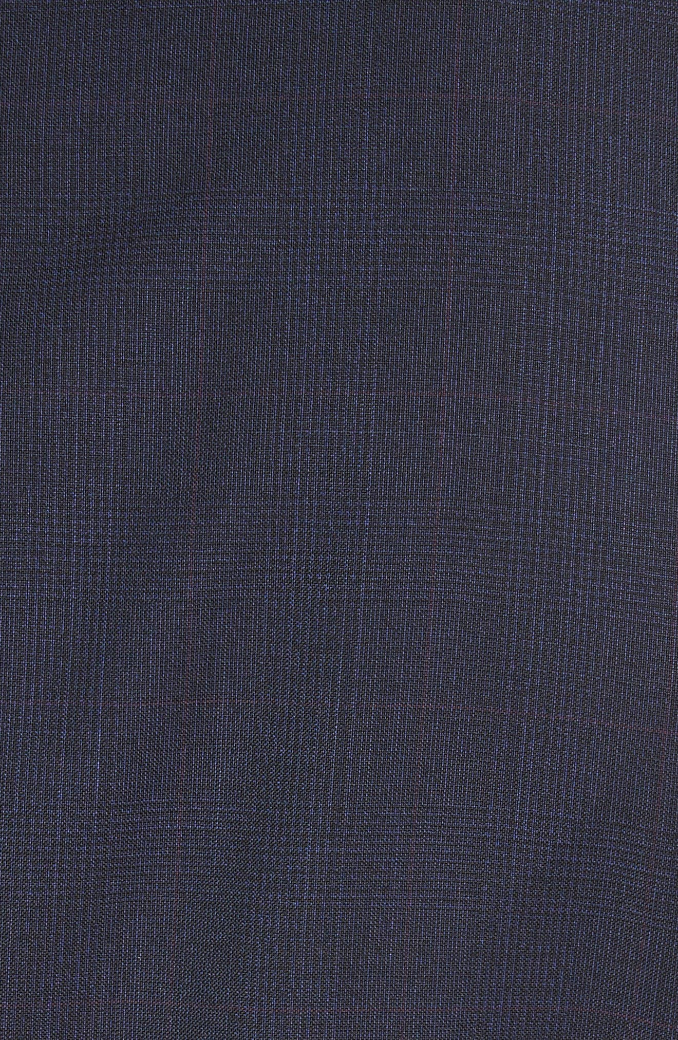 Classic Fit Check Wool Suit,                             Alternate thumbnail 7, color,                             Navy Check