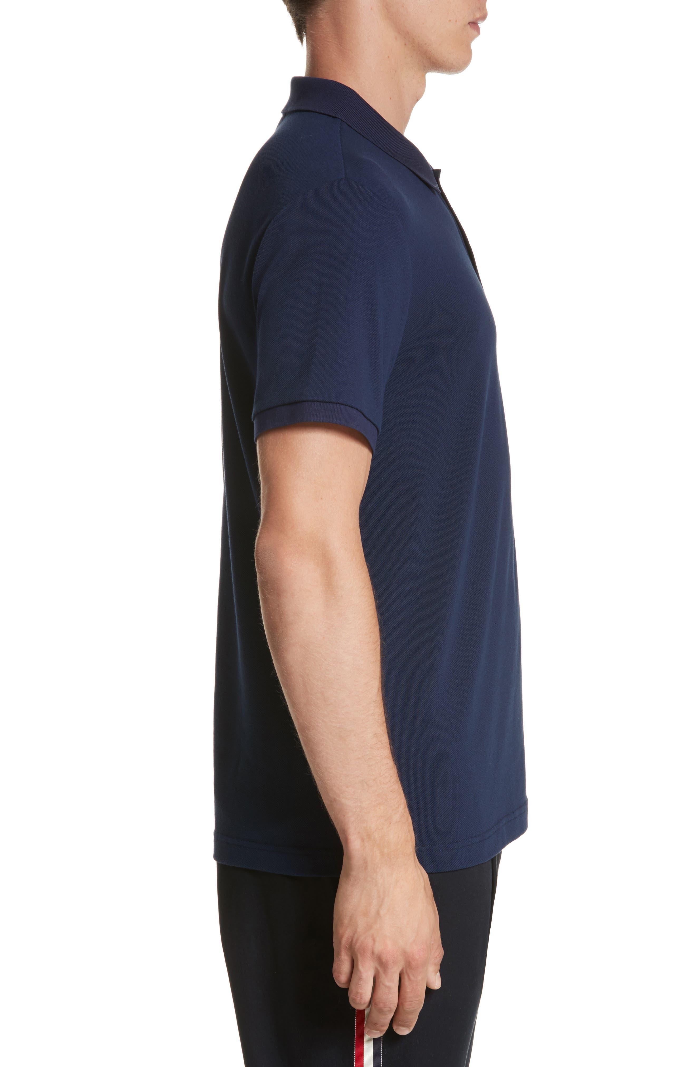 Alternate Image 3  - Moncler Dual Logo Polo Shirt