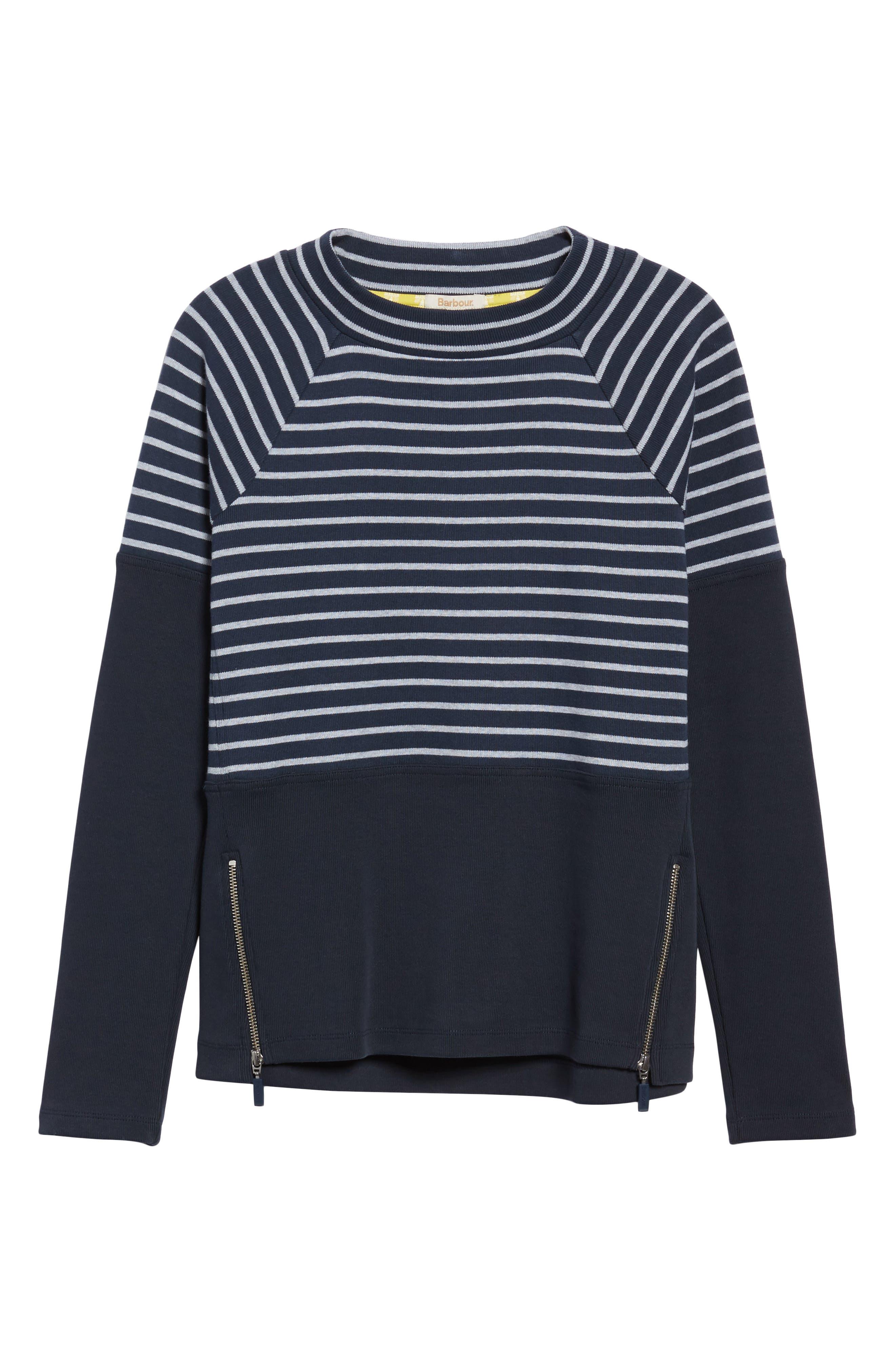 Seaburn Stripe Sweatshirt,                             Alternate thumbnail 6, color,                             Navy/ Grey