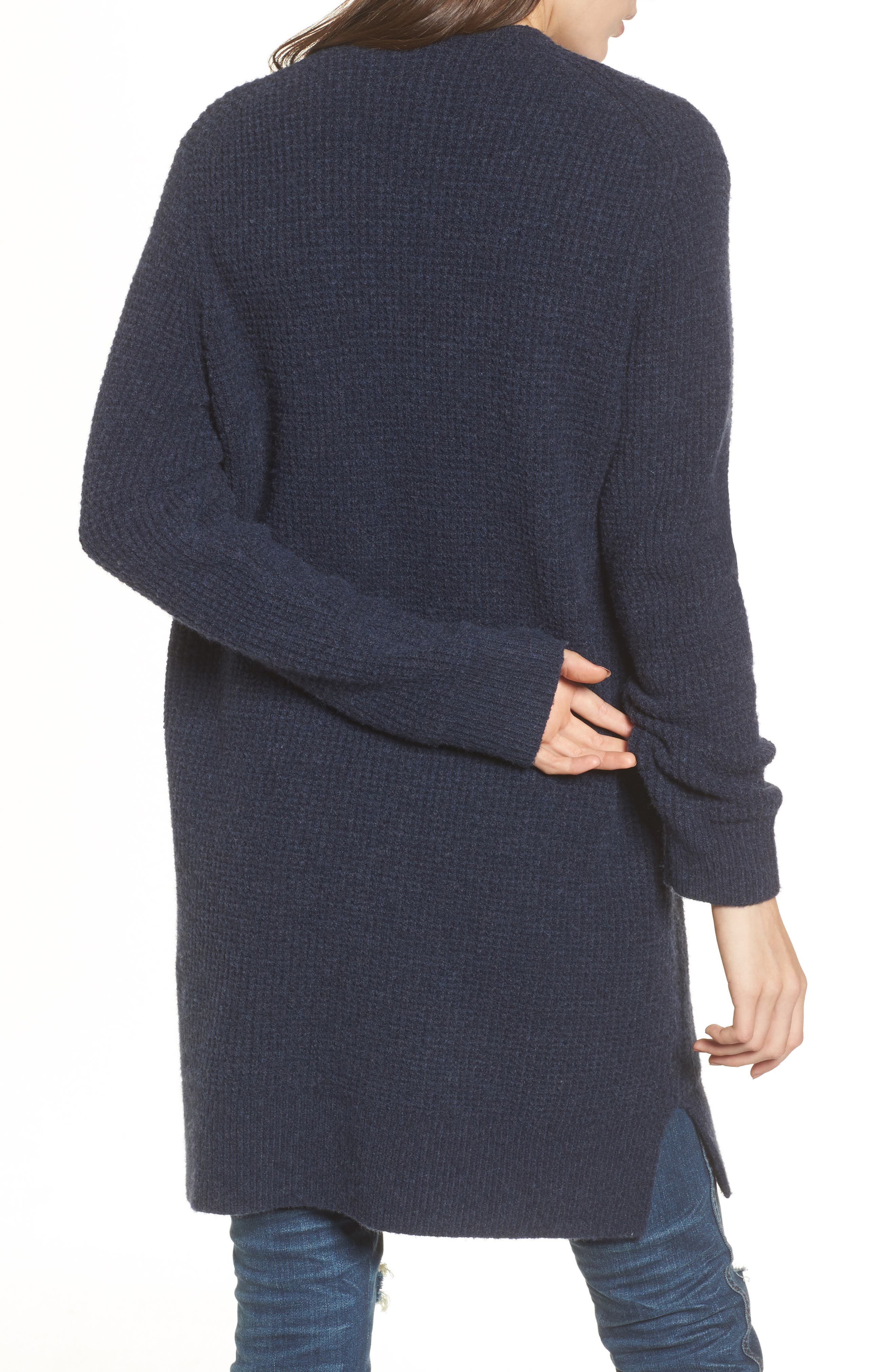 Alternate Image 2  - Madewell Waffle Stitch Cardigan Sweater