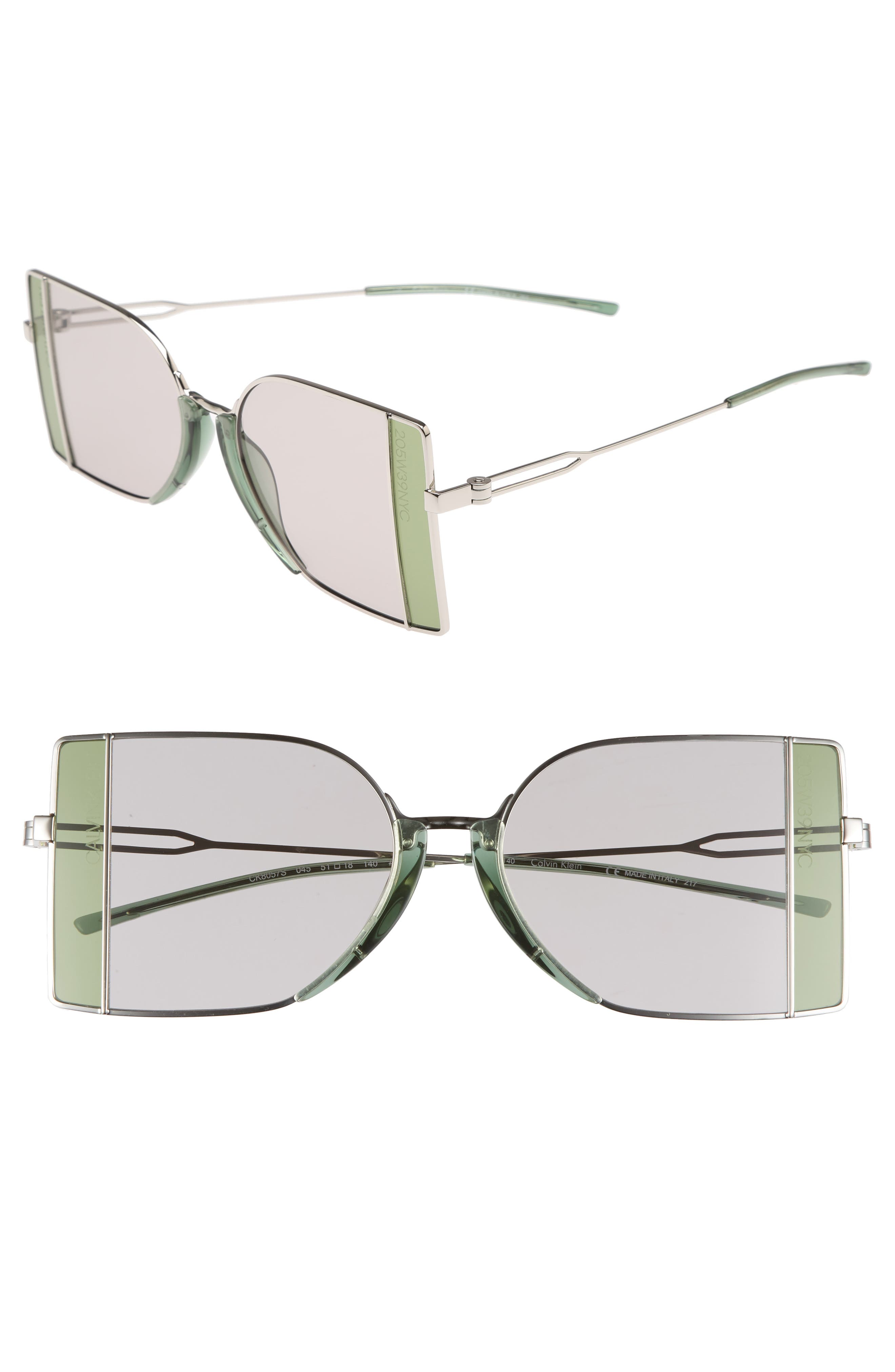 51mm Butterfly Sunglasses,                         Main,                         color, Silver