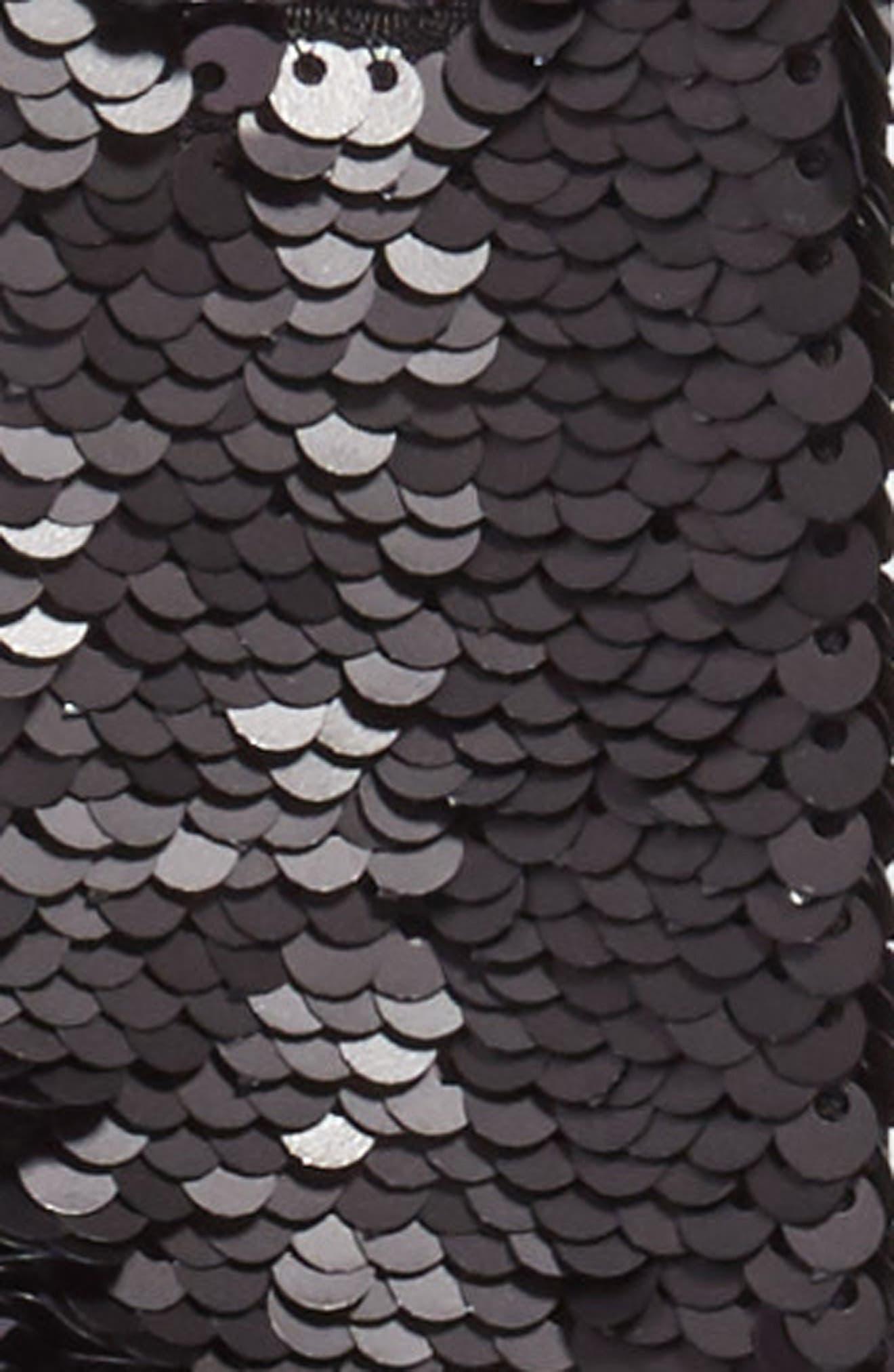Alternate Image 4  - Ted Baker London Sequin Velvet Skinny Scarf