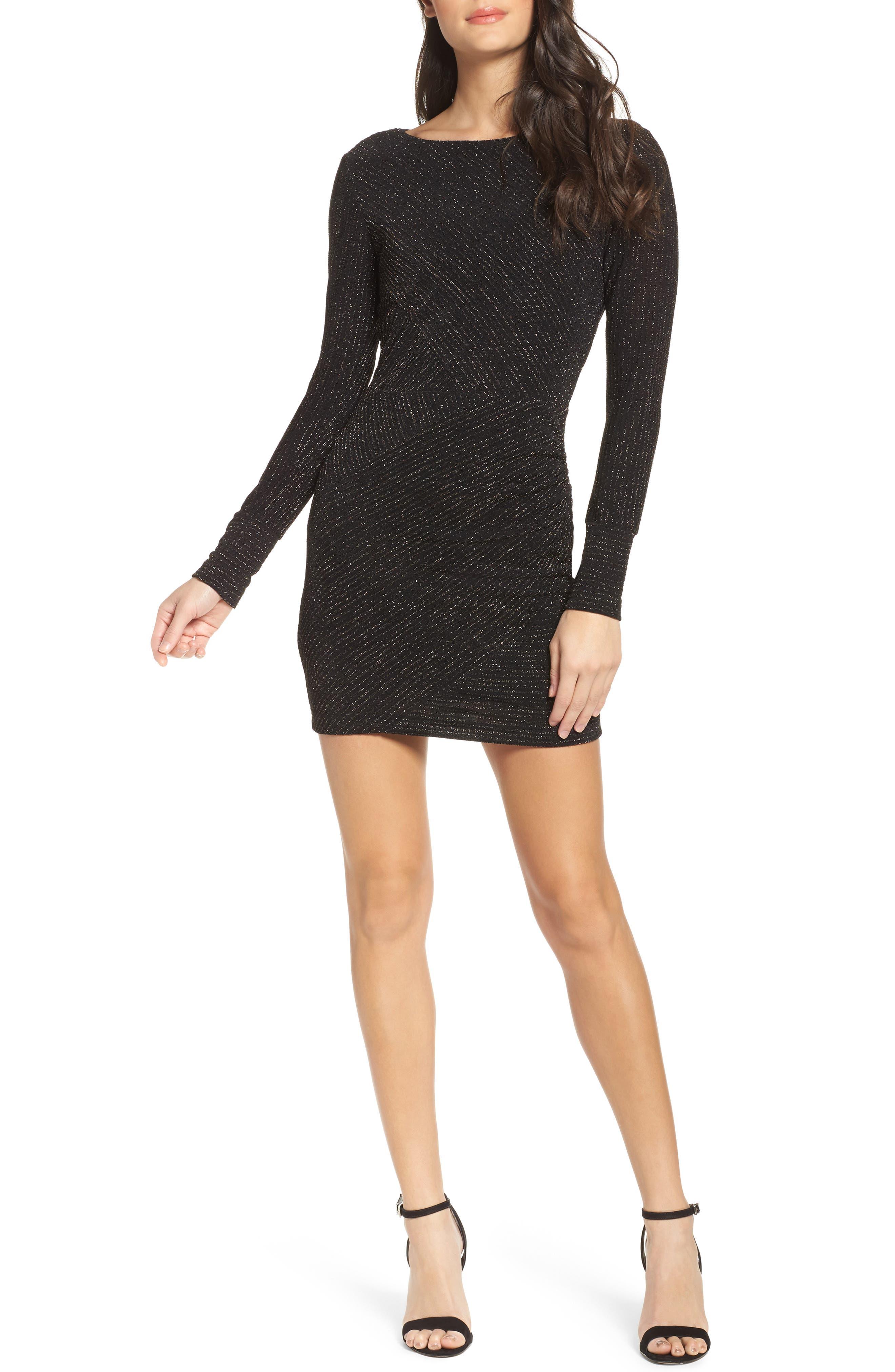 Amanda Body-Con MInidress,                         Main,                         color, Black