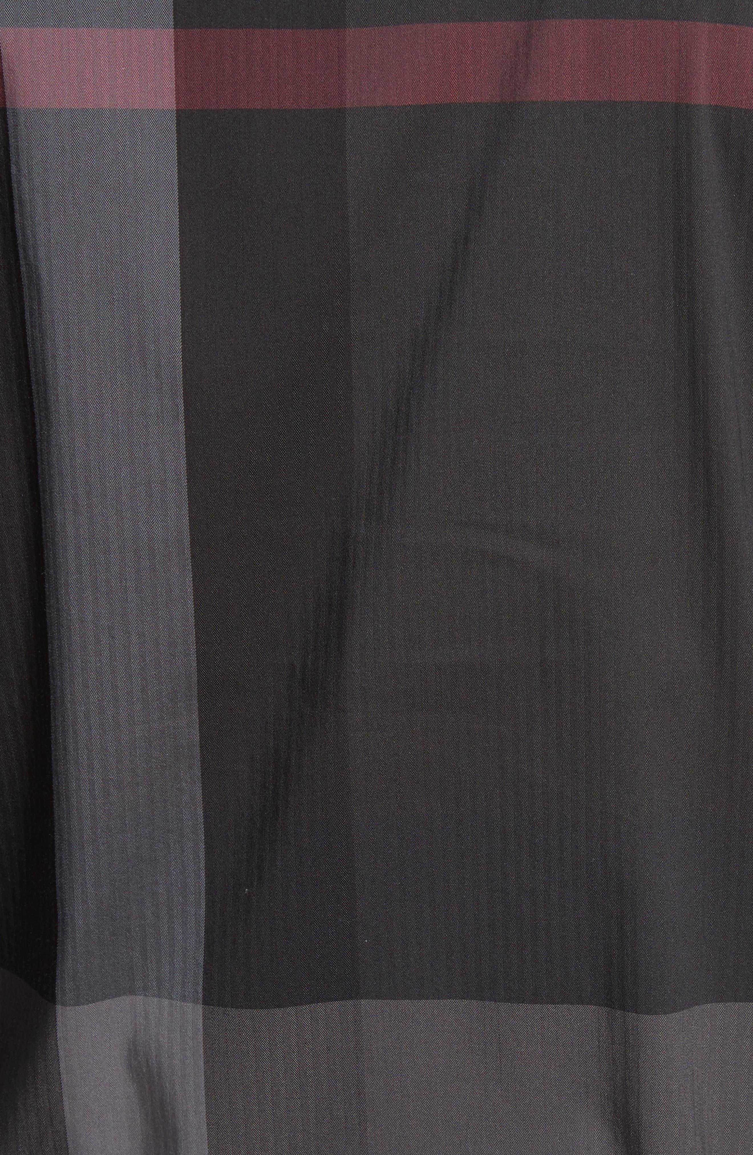 Thornaby Slim Fit Plaid Sportshirt,                             Alternate thumbnail 5, color,                             Charcoal
