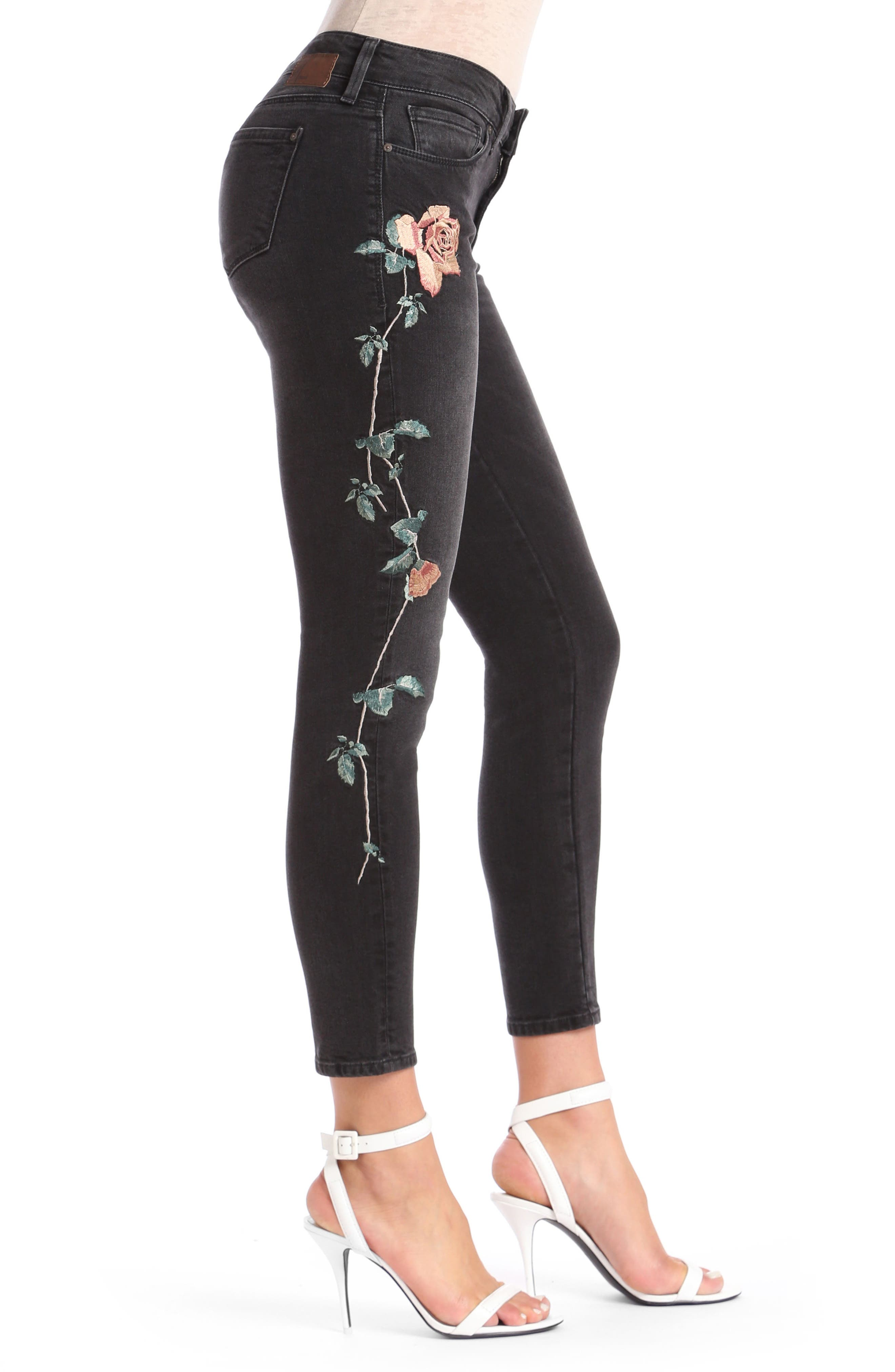 Alternate Image 3  - Mavi Jeans Adriana Embroidered Skinny Jeans