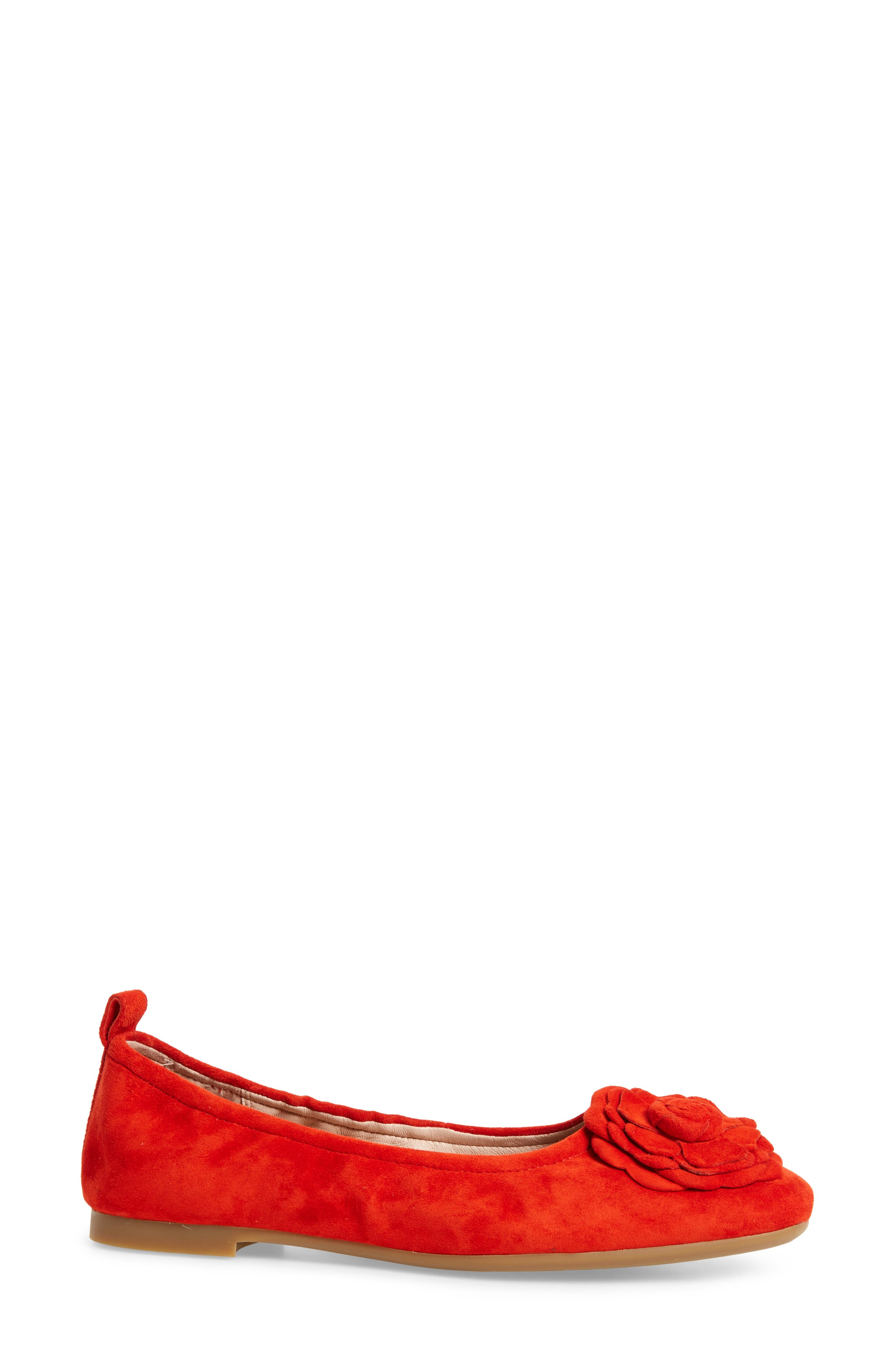 Rosalyn Ballet Flat,                             Alternate thumbnail 5, color,                             Spicy Suede