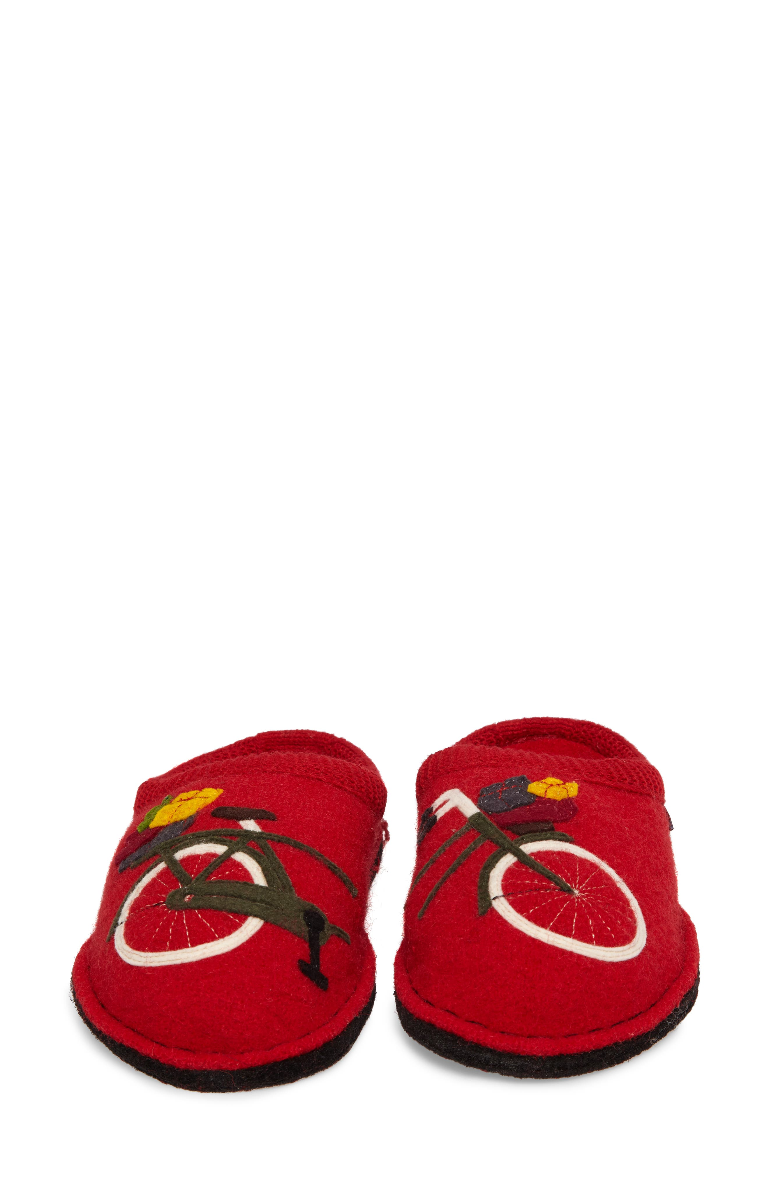 Bicycle Slipper,                             Alternate thumbnail 5, color,                             Bicycle Red Wool