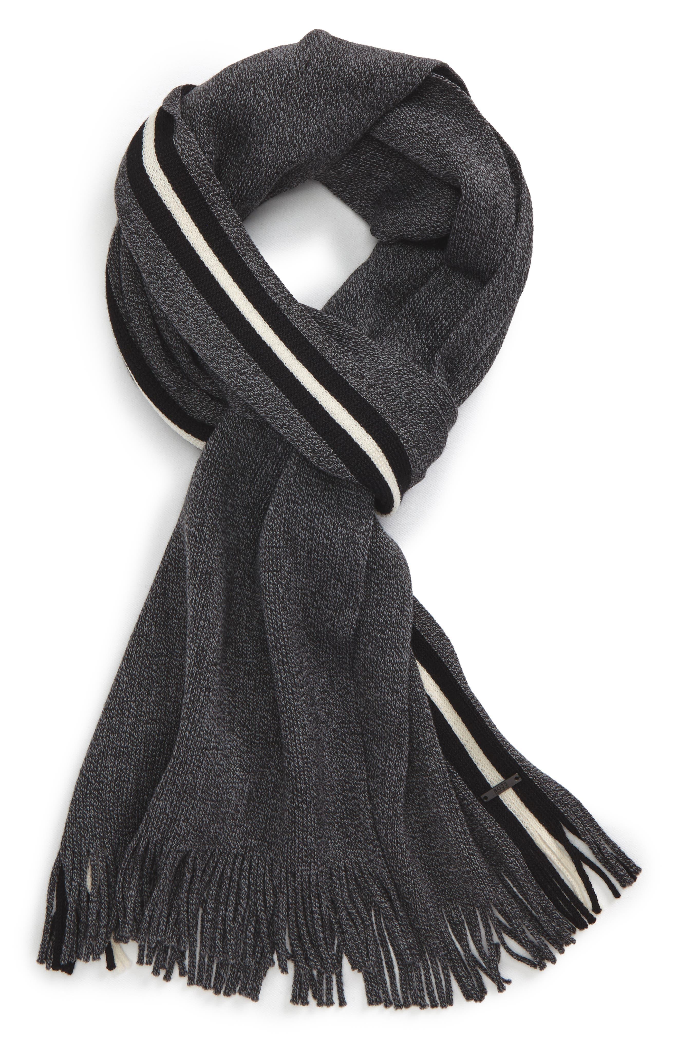 BOSS Fador Wool Stripe Scarf