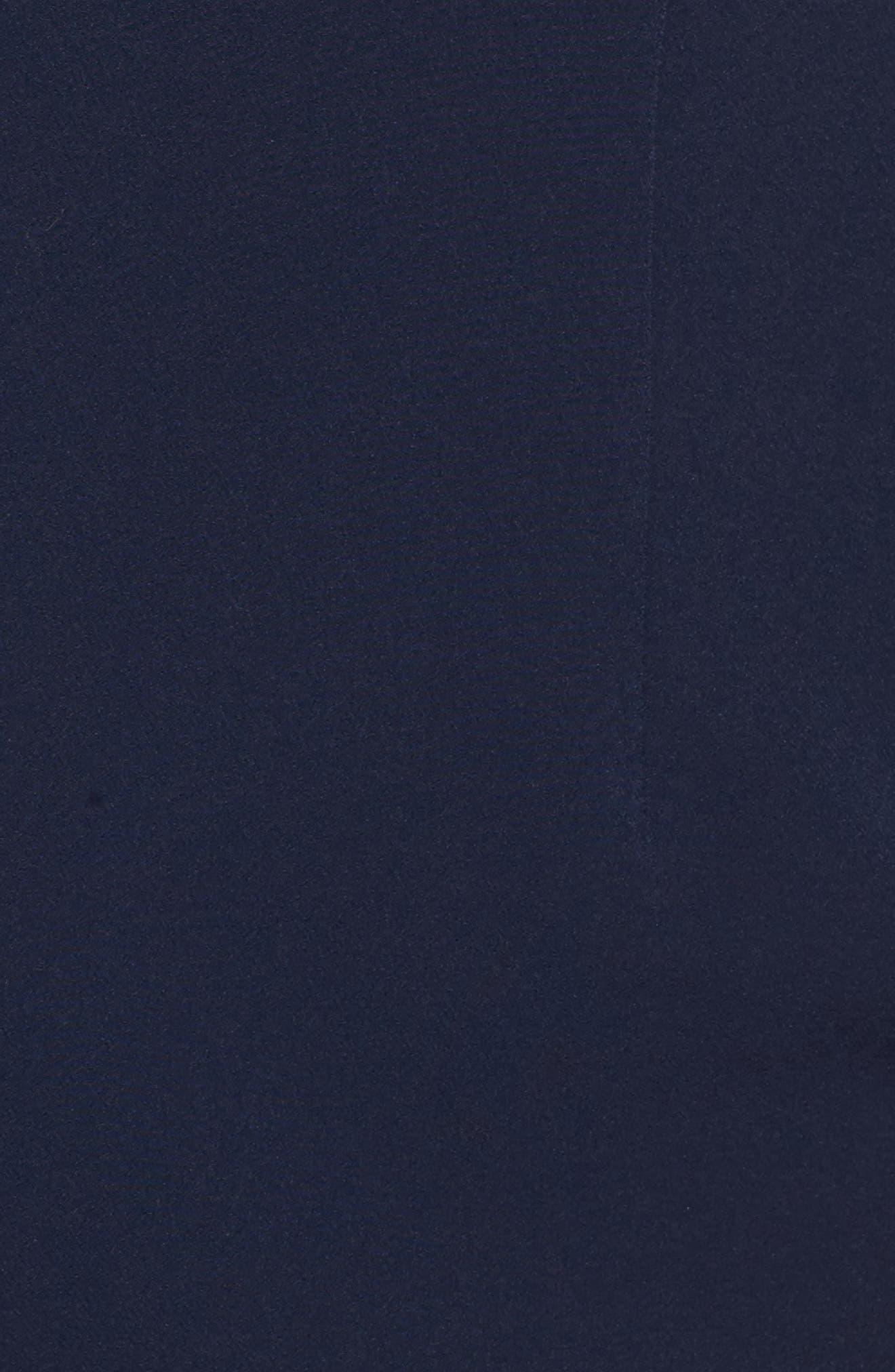 Cold Shoulder Sheath Dress,                             Alternate thumbnail 5, color,                             Patriot Blue