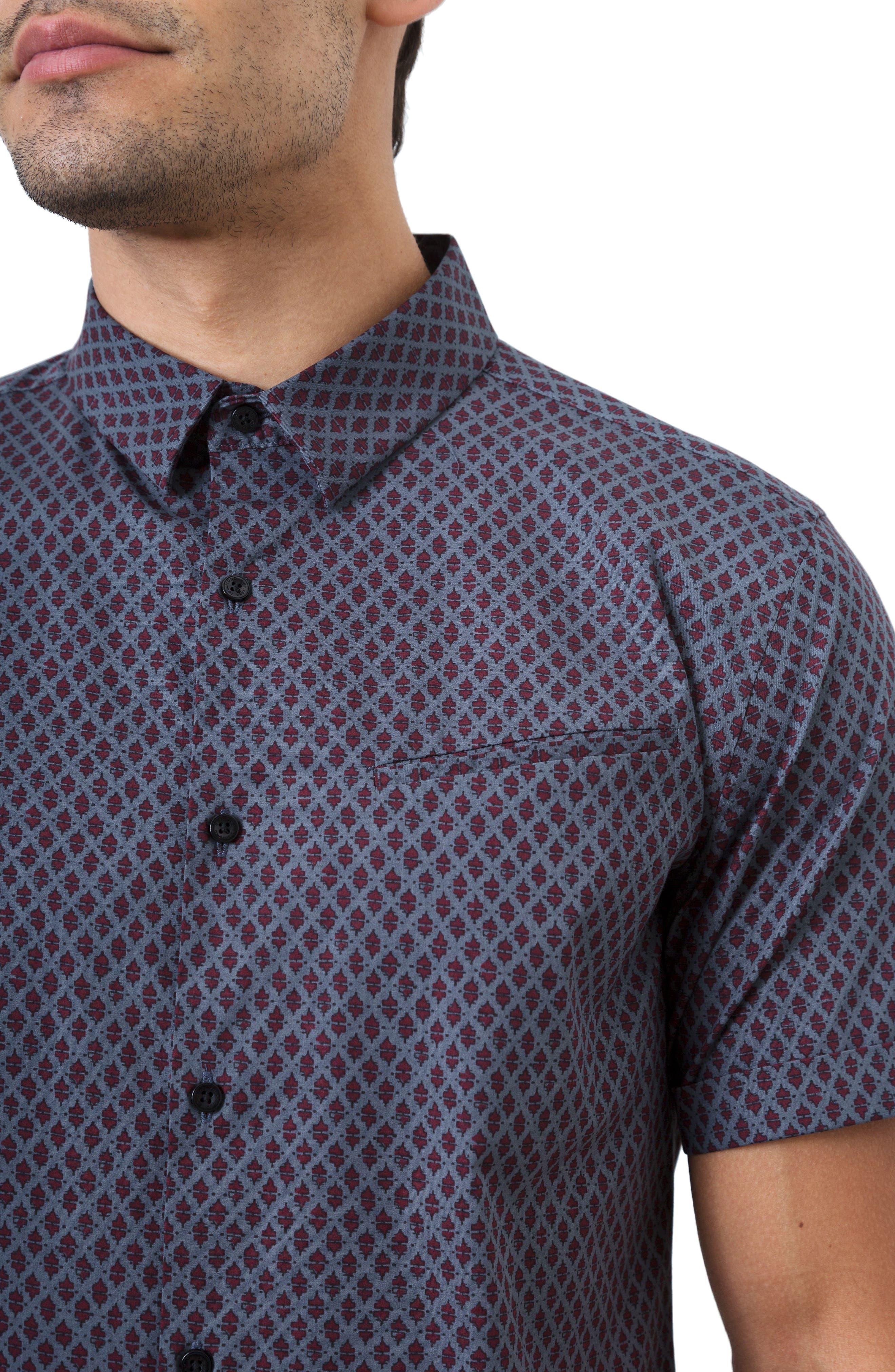Dancing Mood Woven Shirt,                             Alternate thumbnail 4, color,                             Navy