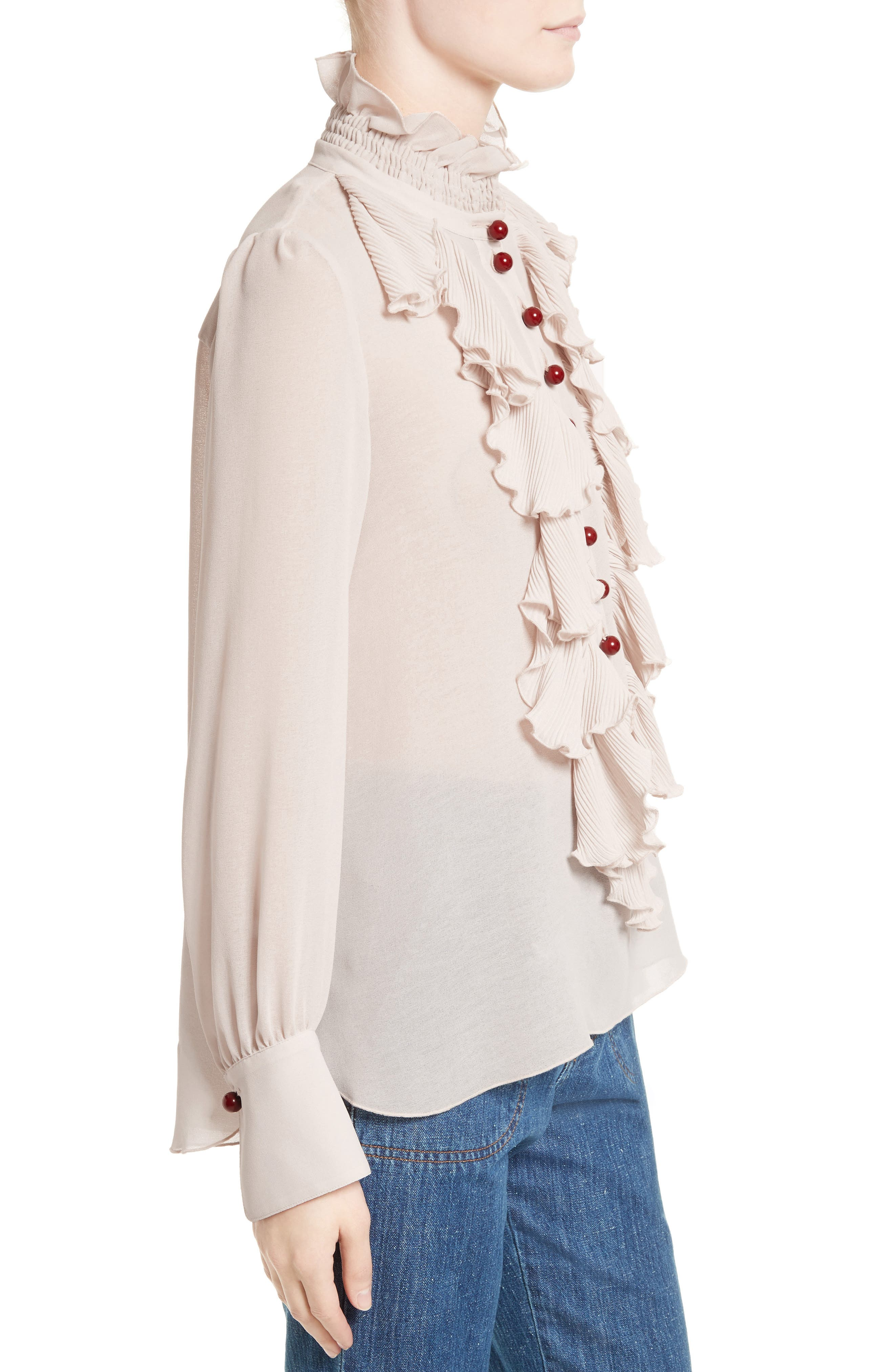 Alternate Image 3  - See by Chloé Ruffle Front Blouse