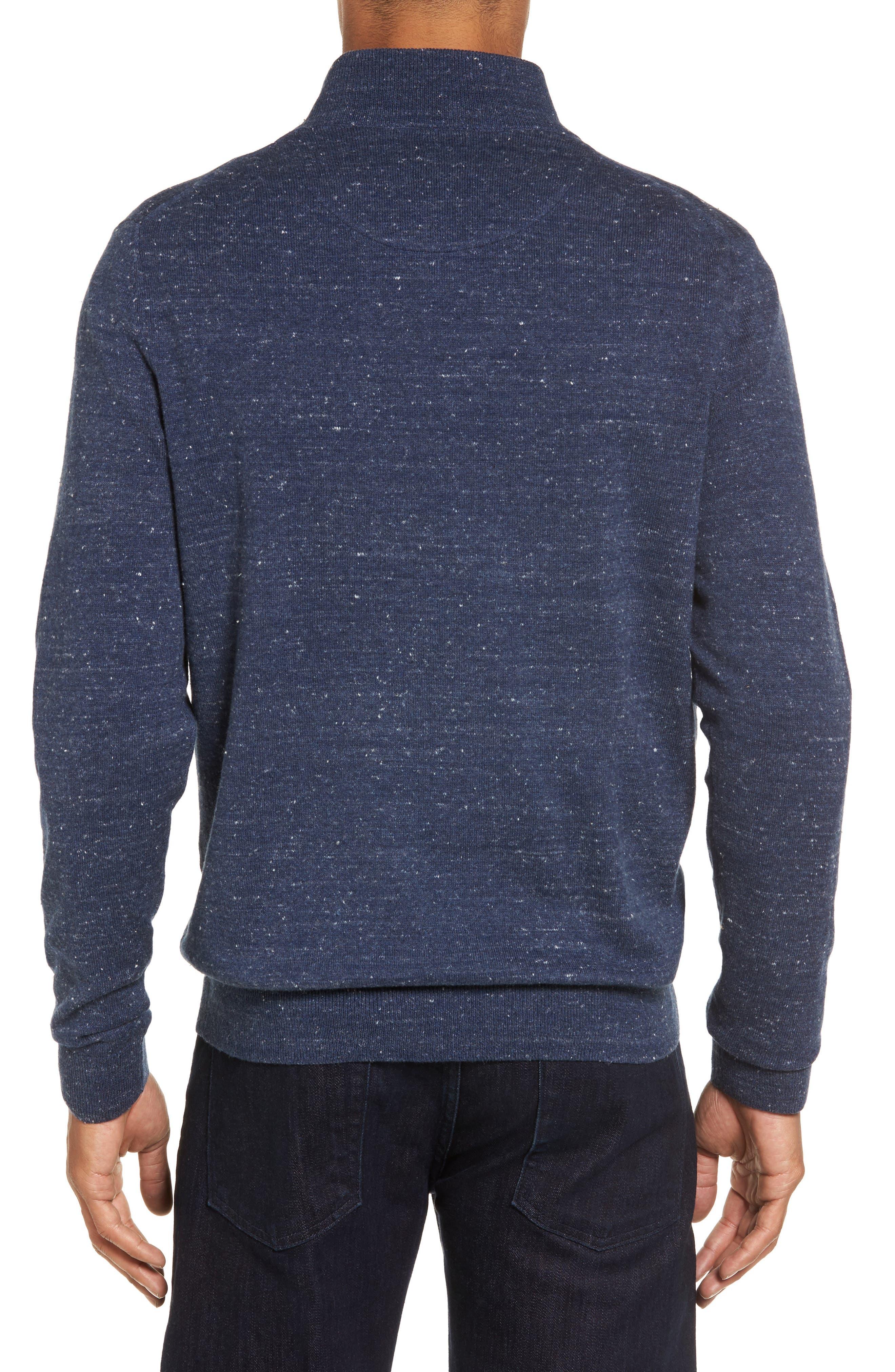 Quarter Zip Sweater,                             Alternate thumbnail 2, color,                             Blue Twilight Marl