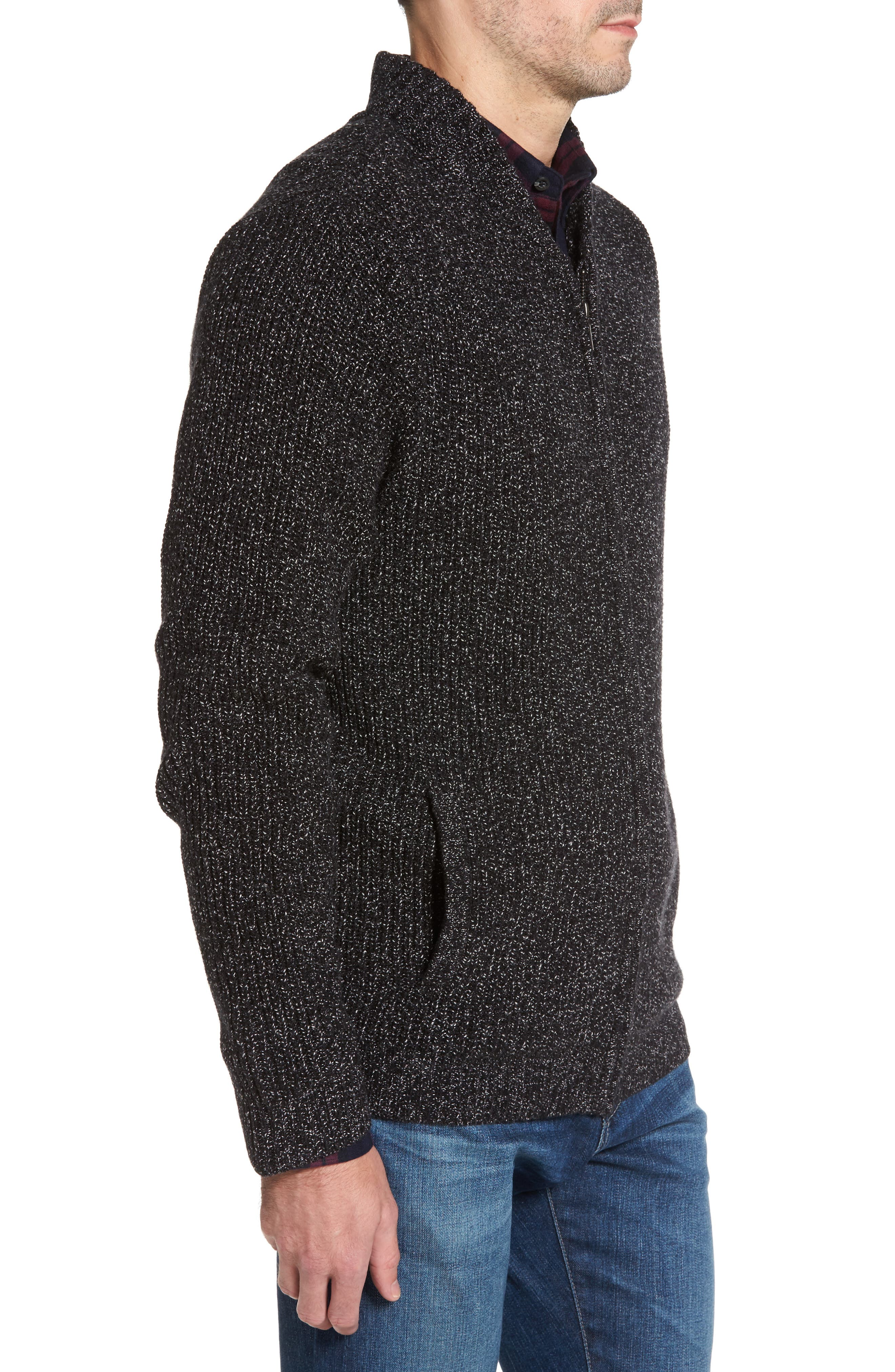 Alternate Image 3  - Nordstrom Men's Shop Zip Front Cardigan