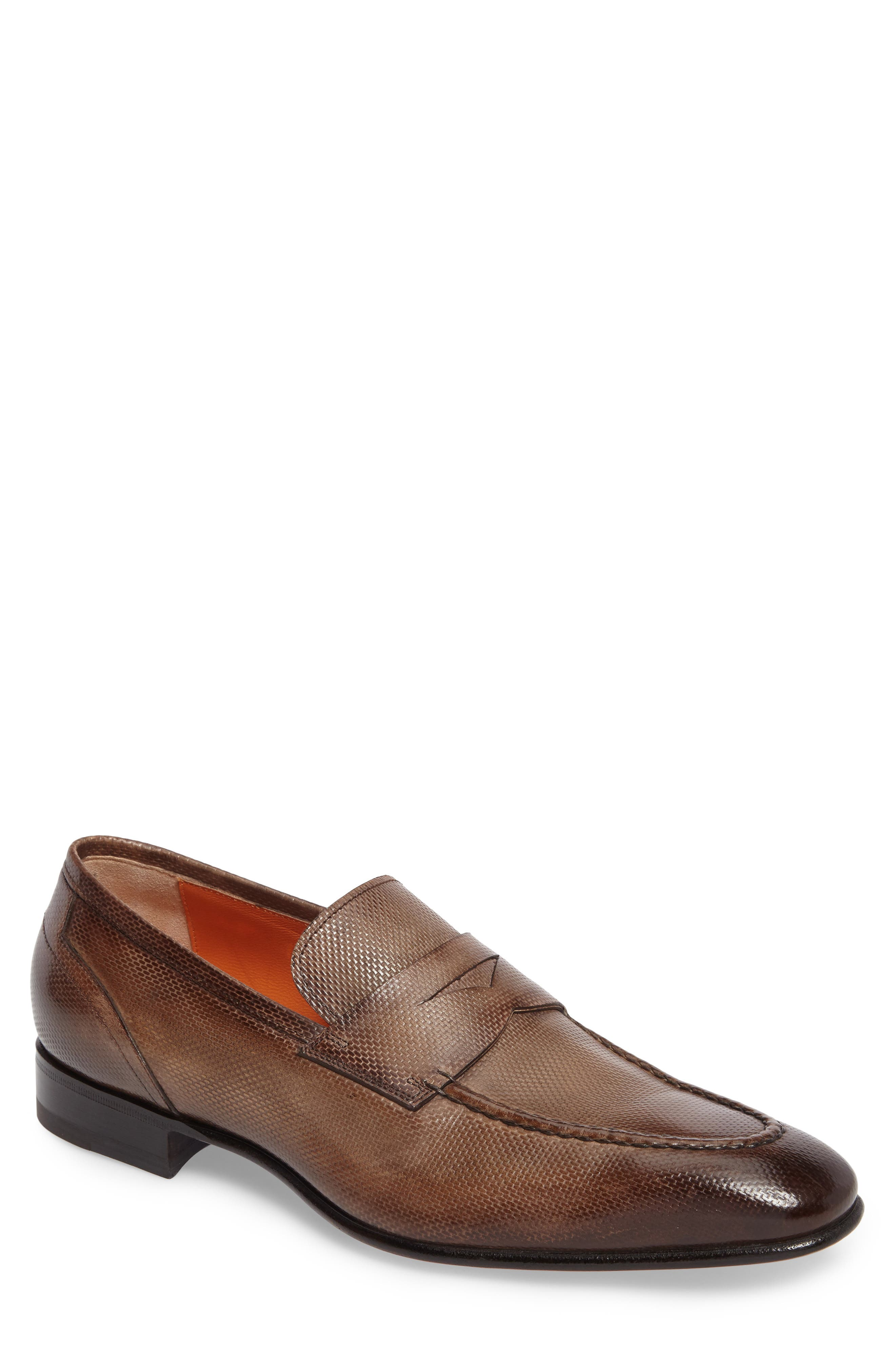 Felipe Penny Loafer,                             Main thumbnail 1, color,                             Brown