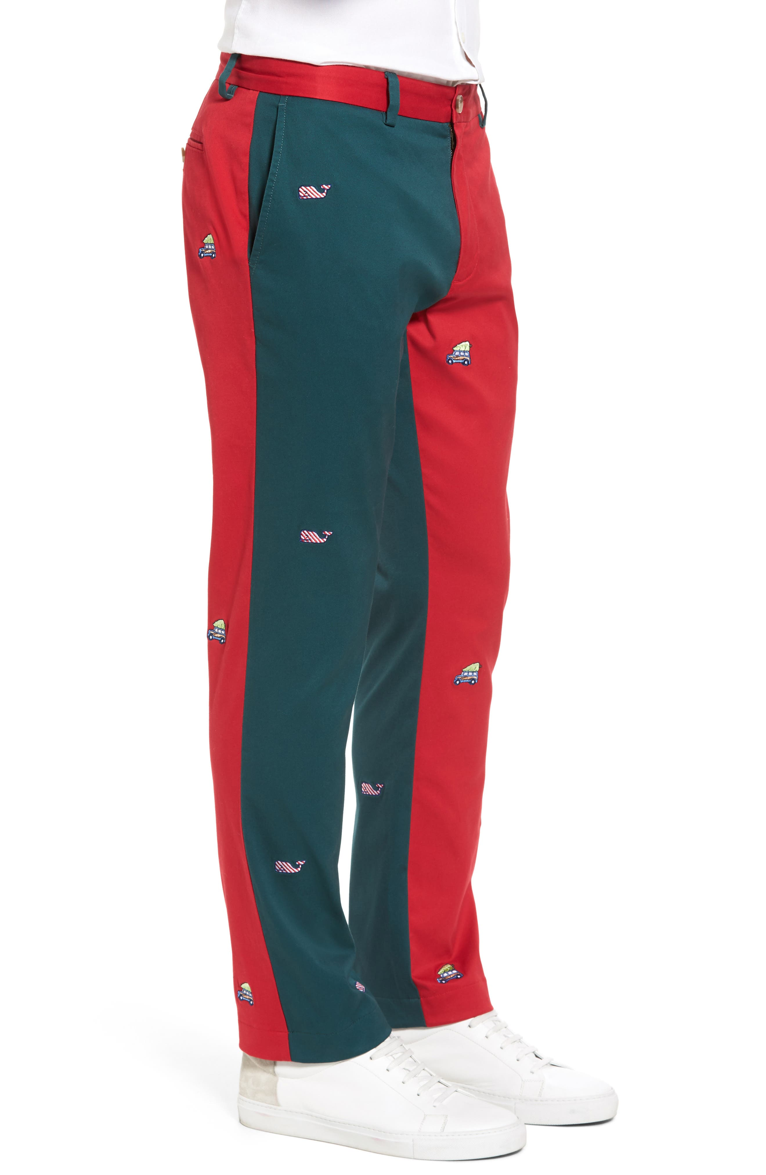 Breaker Embroidered Pieced Pants,                             Alternate thumbnail 3, color,                             Multi