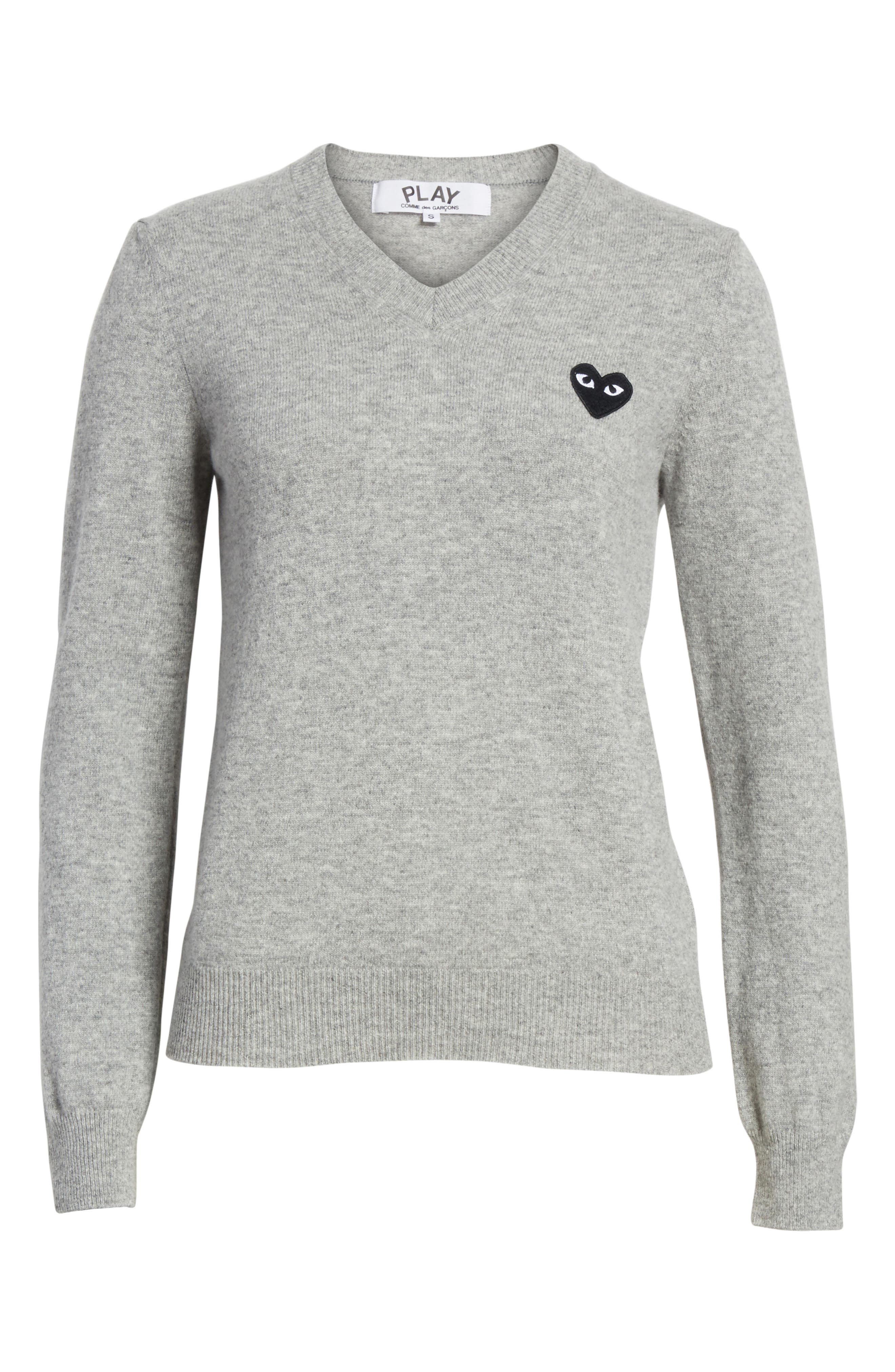 Alternate Image 6  - Comme des Garçons PLAY Heart Wool Pullover
