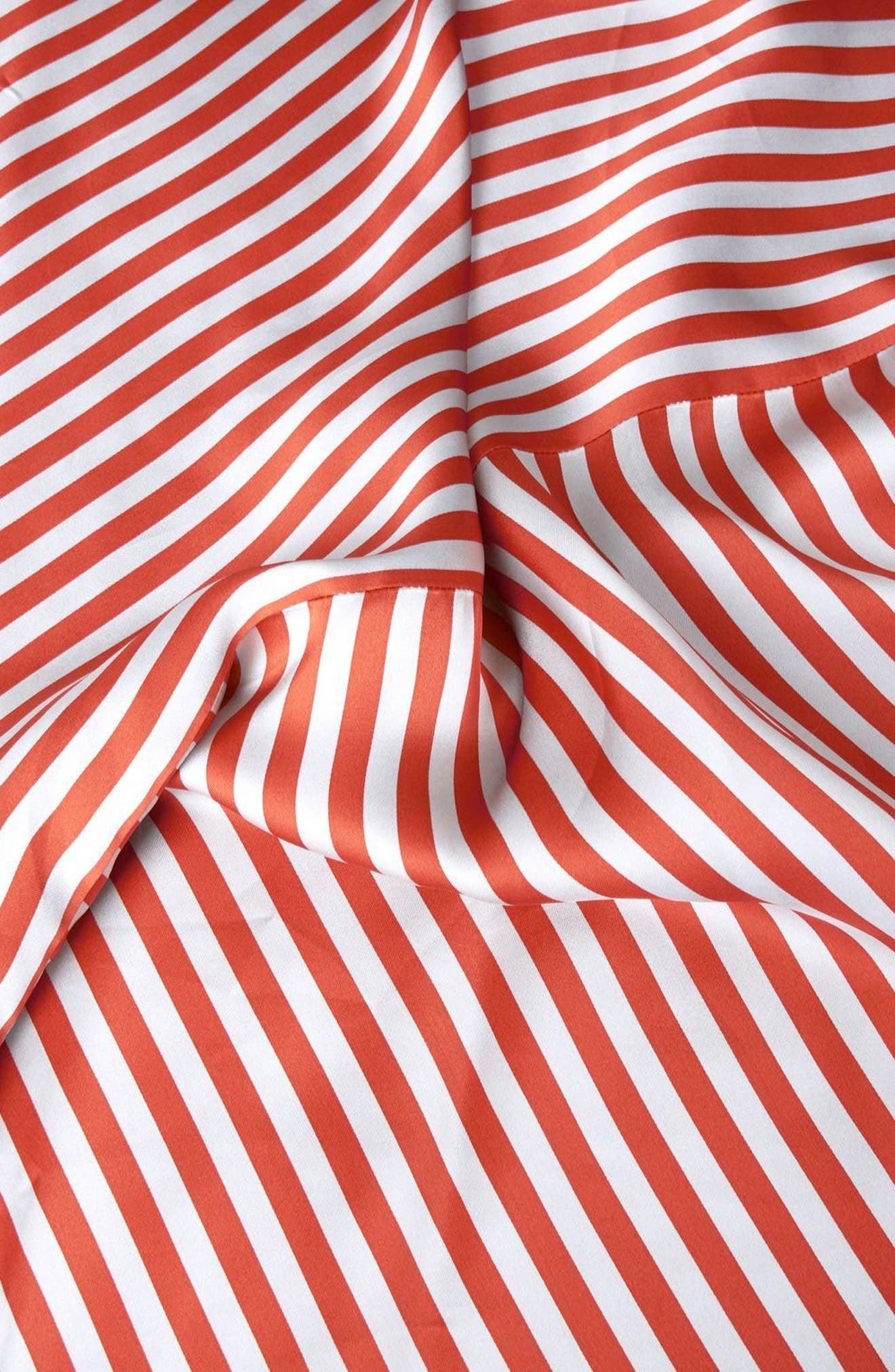 Stripe Knot Midi Skirt,                             Alternate thumbnail 4, color,                             Red Multi
